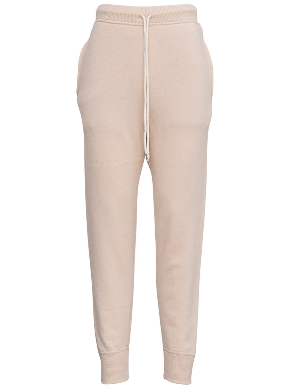 Beige Wool Jogger With Drawstring