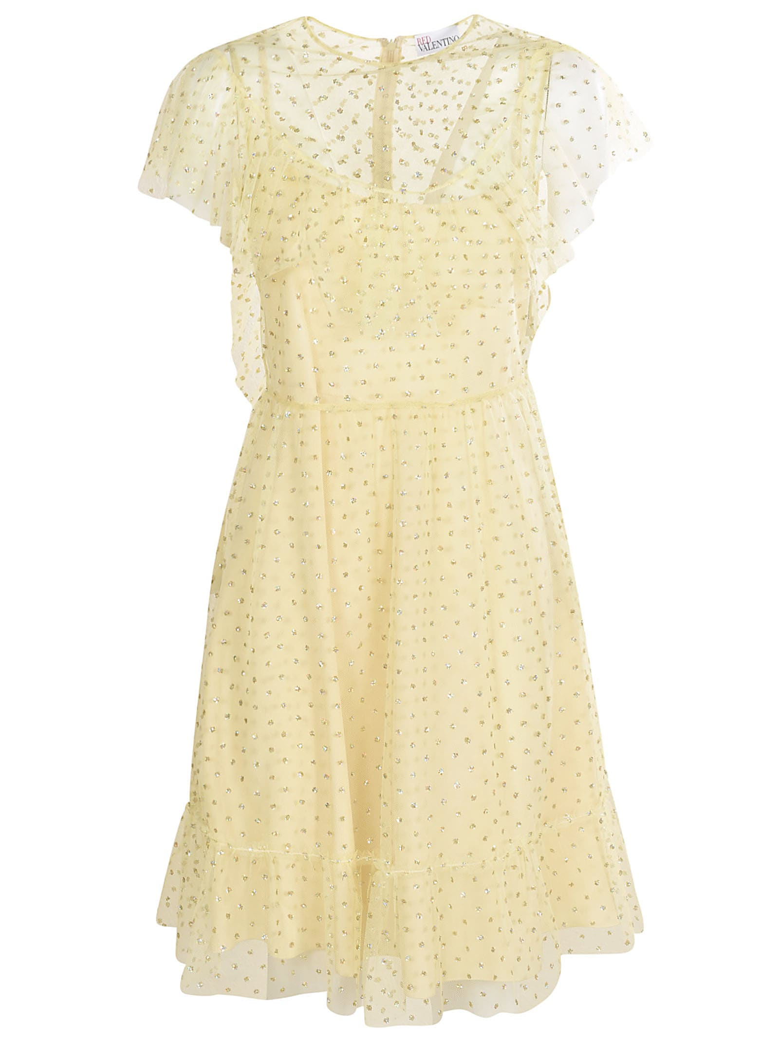 Buy RED Valentino Lace Embellished Dress online, shop RED Valentino with free shipping