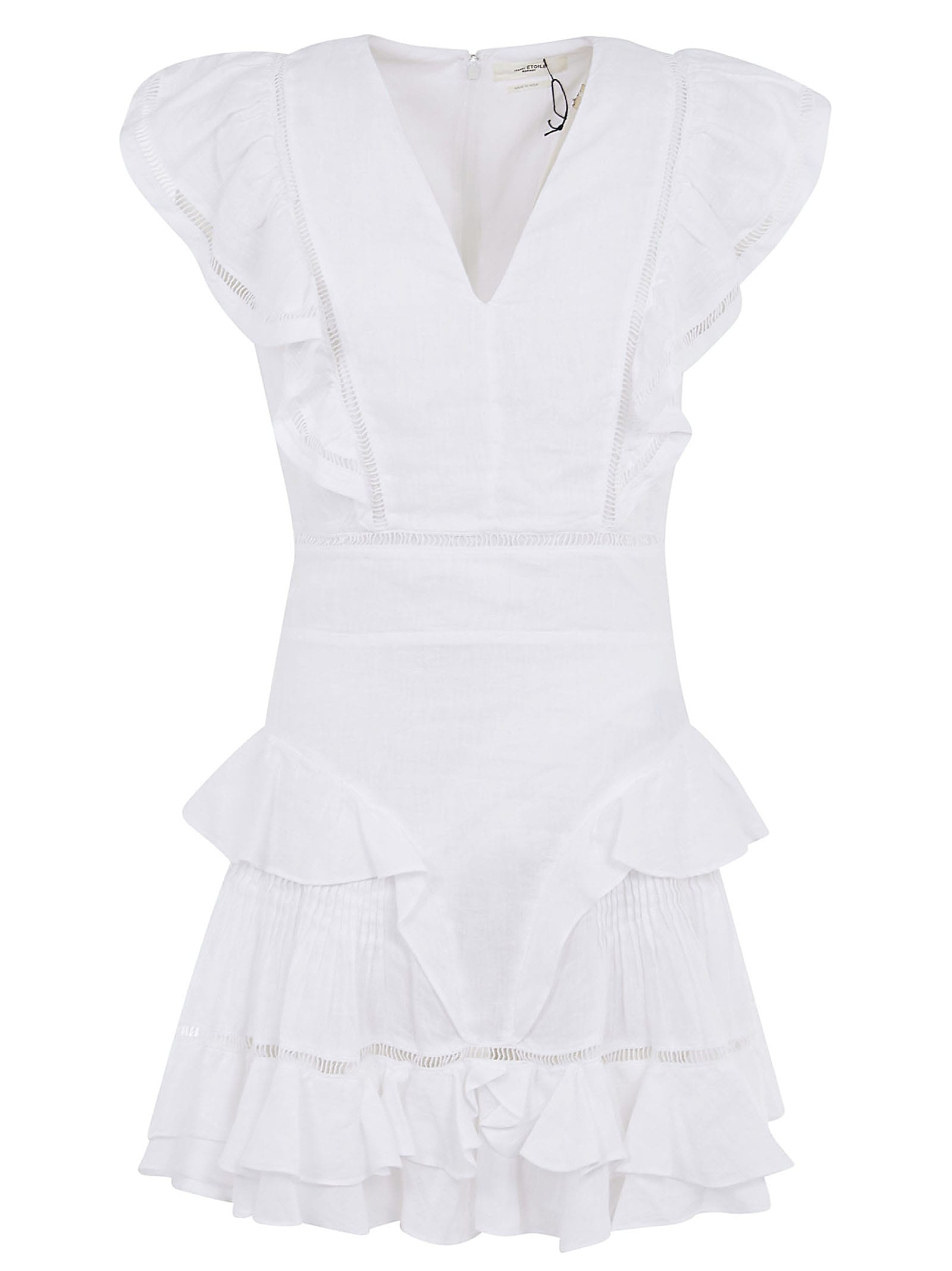 Buy Isabel Marant Étoile V-neck Ruffled Skirt Dress online, shop Isabel Marant Étoile with free shipping