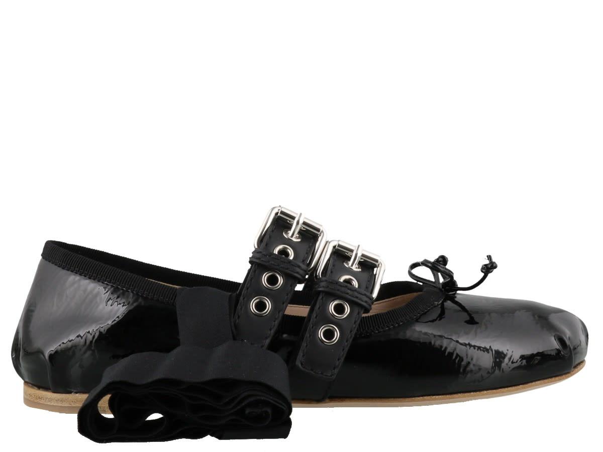 Buy Miu Miu Ballets online, shop Miu Miu shoes with free shipping