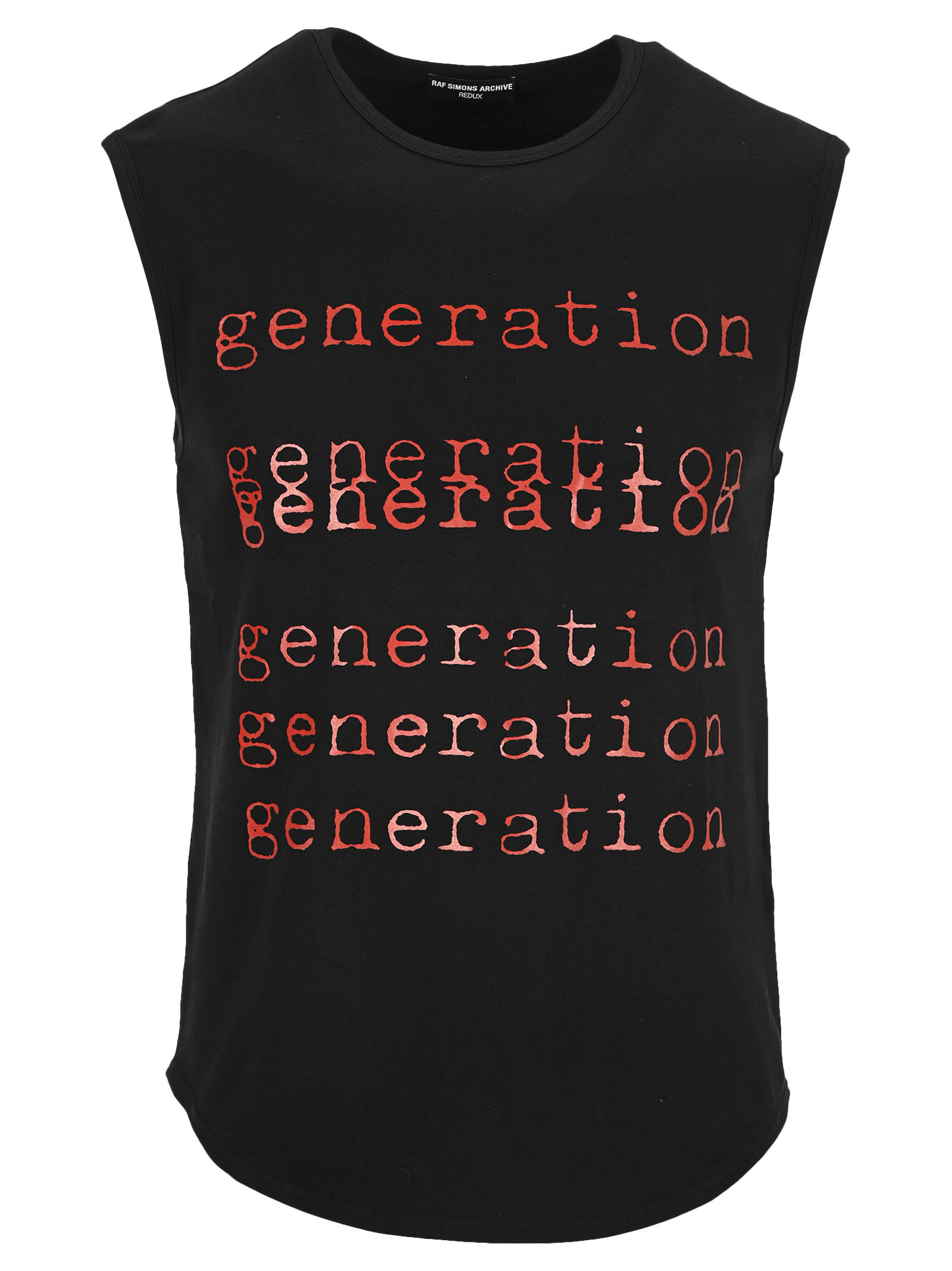 Raf Simons GENERATION SLEEVELESS TEE