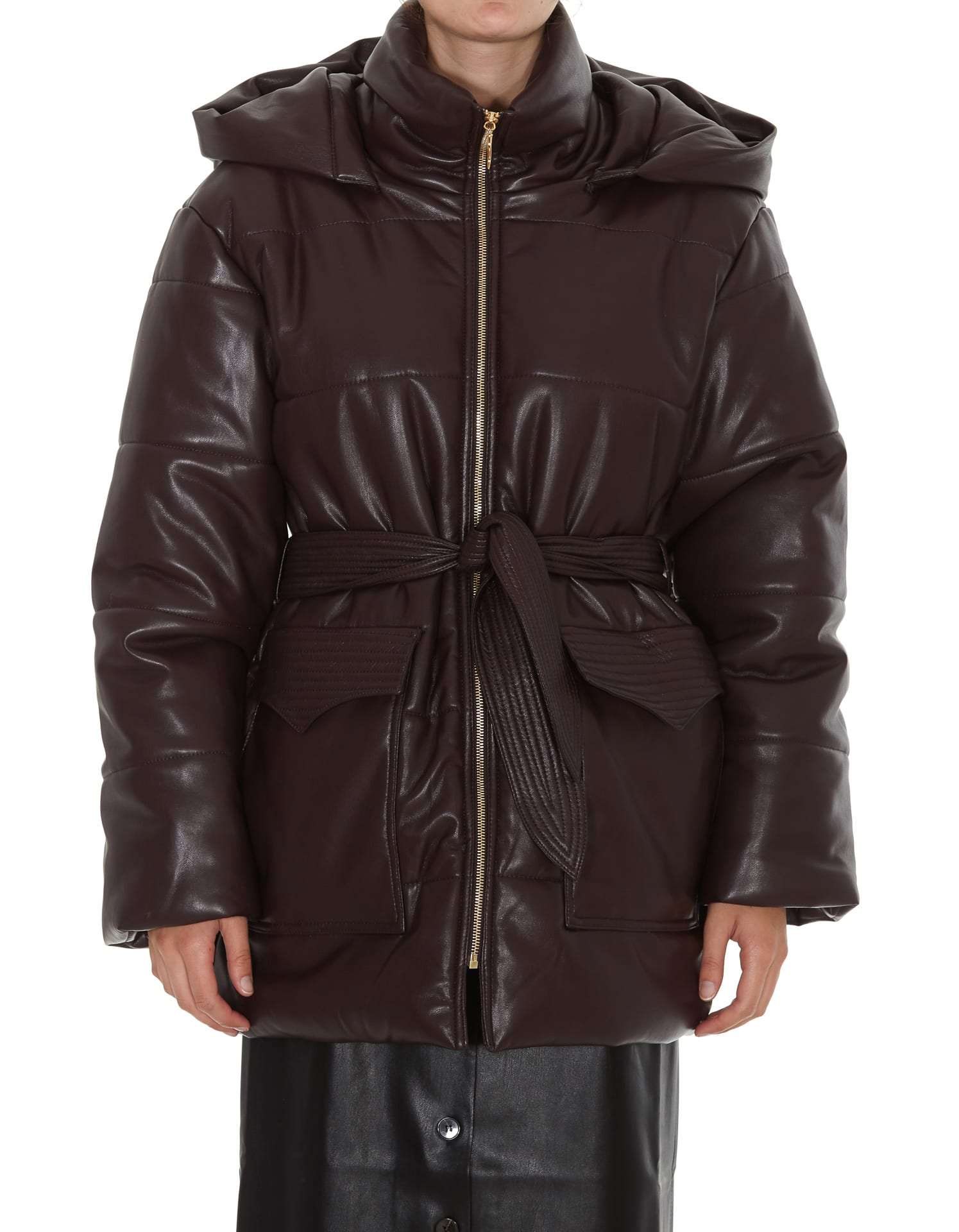 Photo of  Nanushka Lenox Down Jacket- shop Nanushka jackets online sales