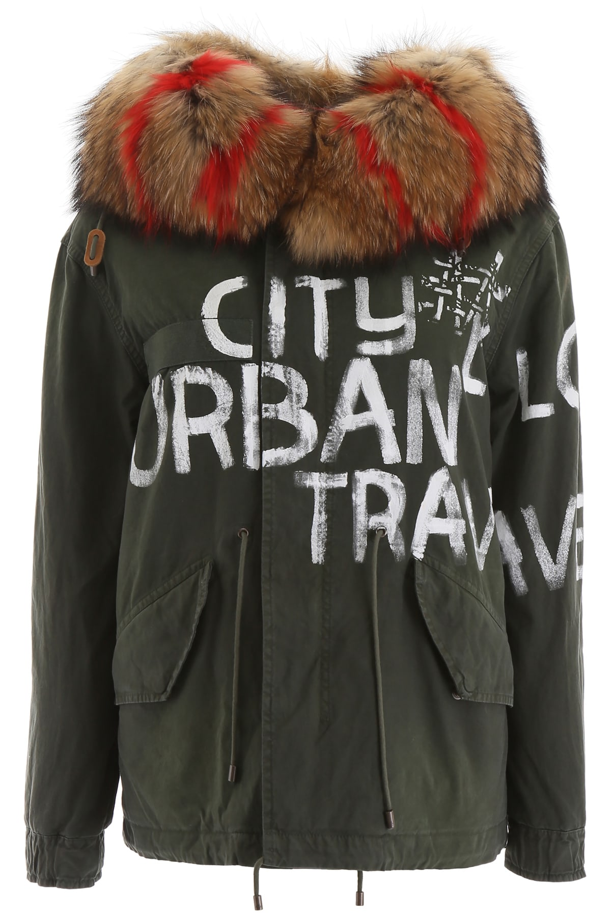 Photo of  Mr & Mrs Italy Mini Parka With Fur And Shearling- shop Mr & Mrs Italy jackets online sales