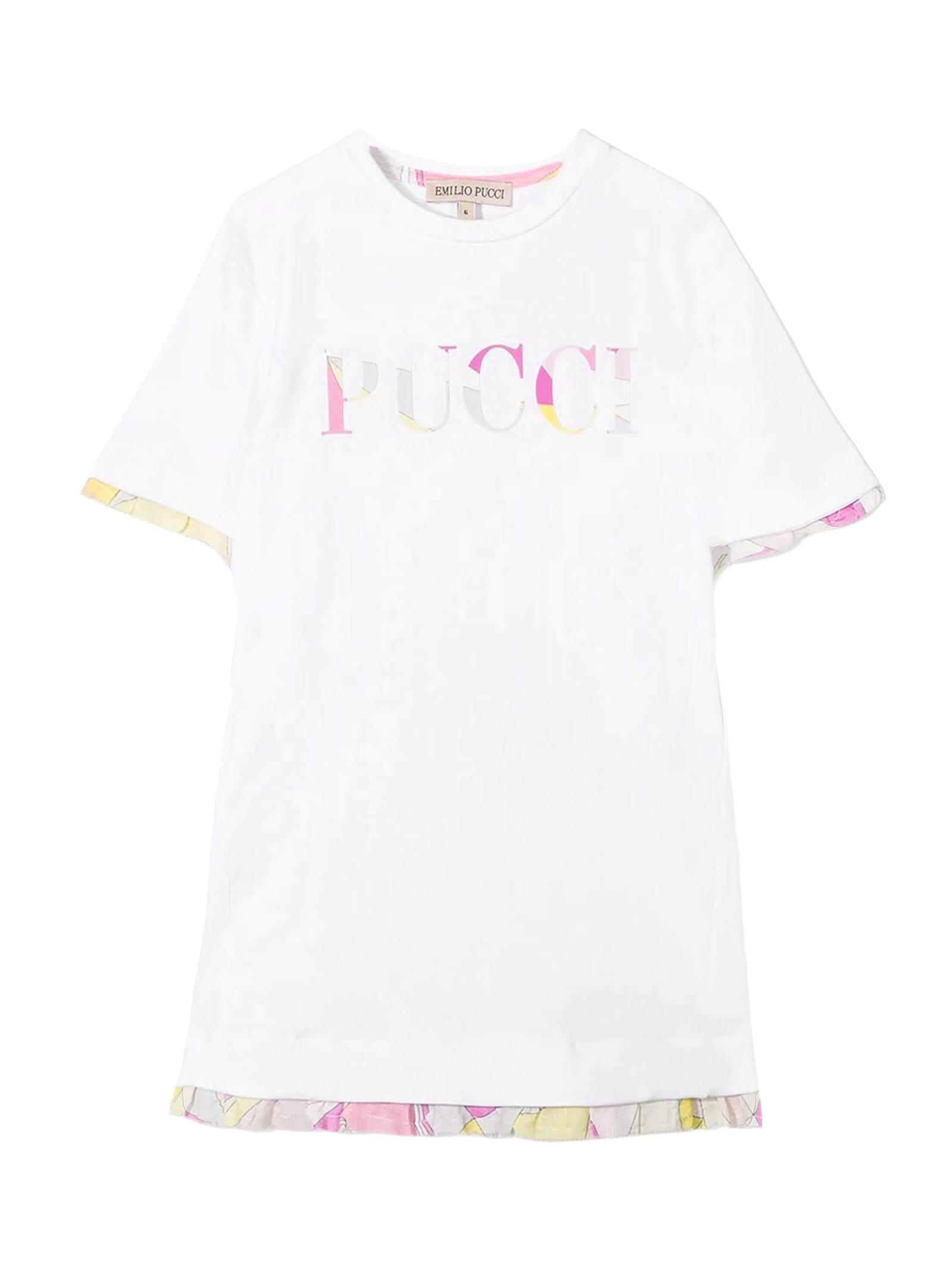 Emilio Pucci White Cotton T-shirt Dress