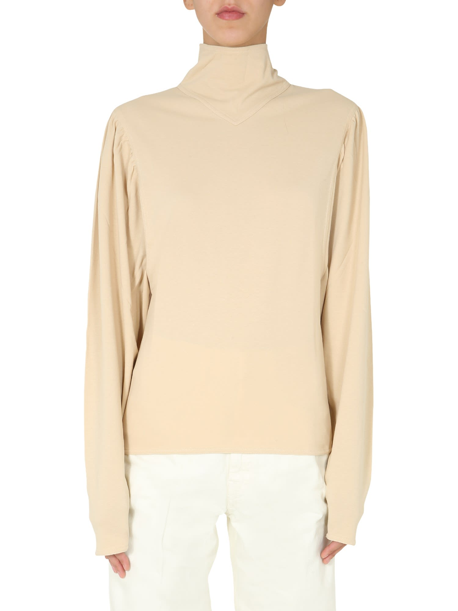 LEMAIRE HIGH NECK BLOUSE