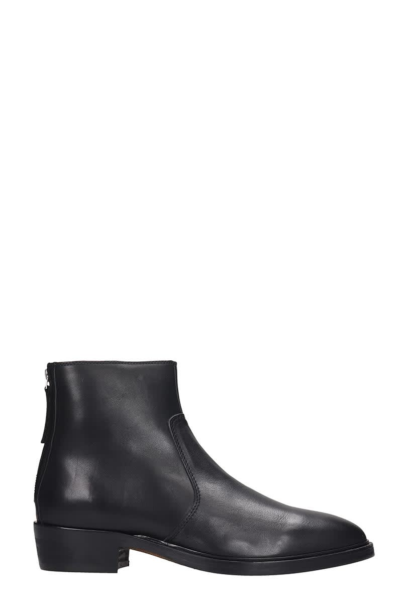 Royal Republiq Hunter High Heels Ankle Boots In Black Leather