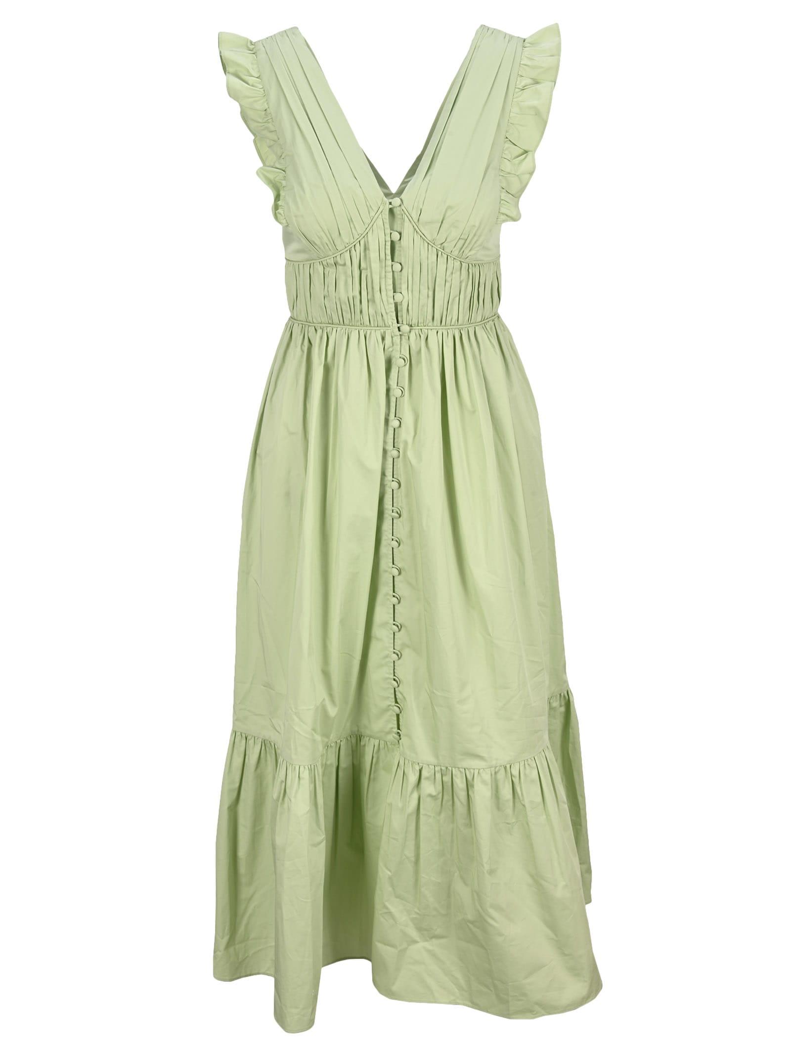 Buy Self Portrait Pistachio Cotton Midi Dress online, shop self-portrait with free shipping