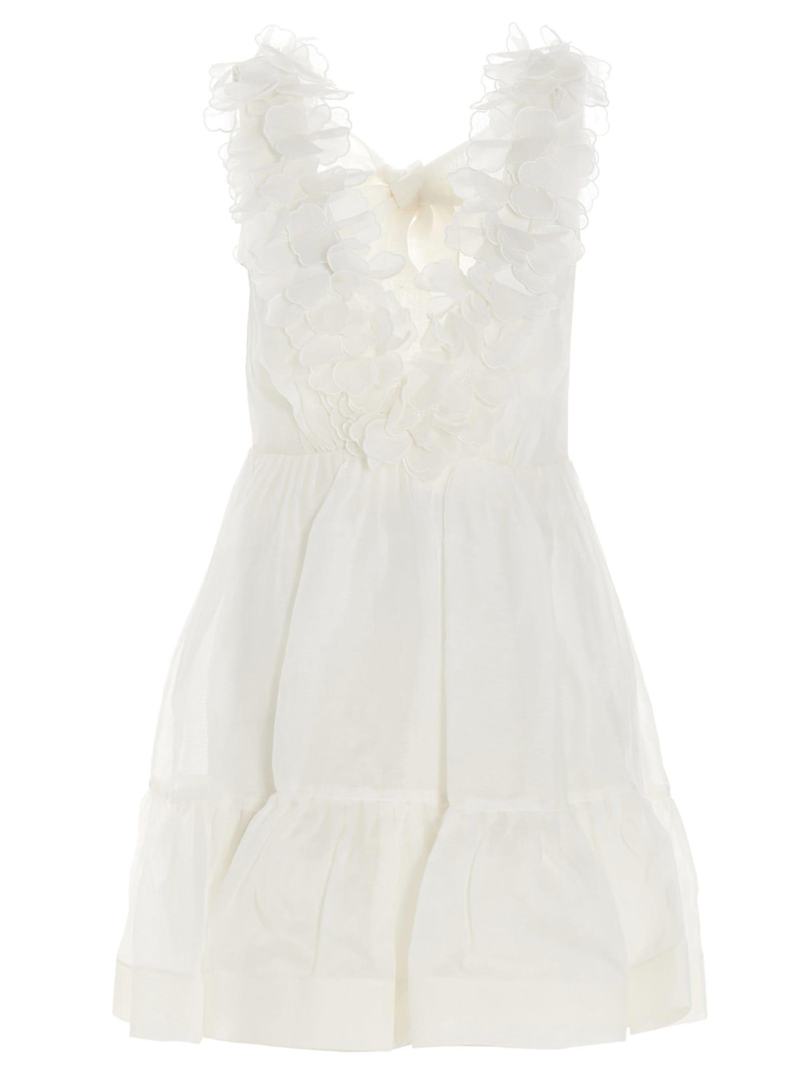 Buy Zimmermann the Lovestruck Garland Mini Dress online, shop Zimmermann with free shipping