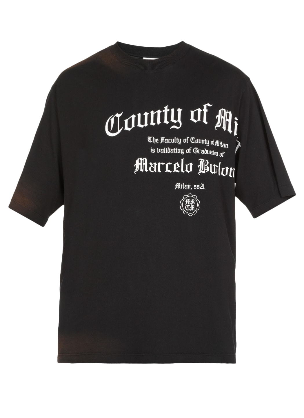 Marcelo Burlon County Of Milan T-shirt In Cotone In Black