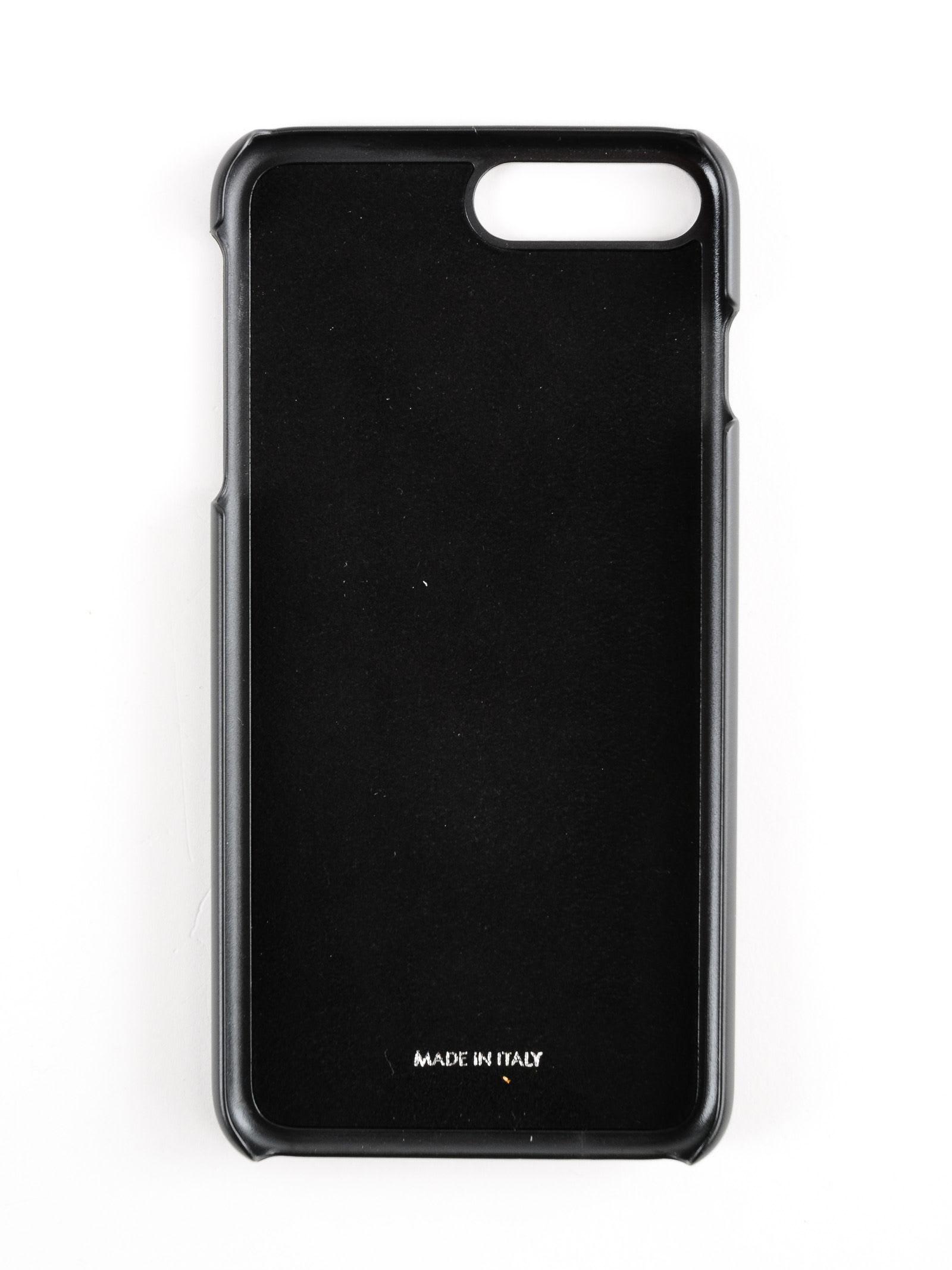 quality design 0998c c64d9 Dolce & Gabbana Crystal Logo Plaque Iphone 8 Plus Case