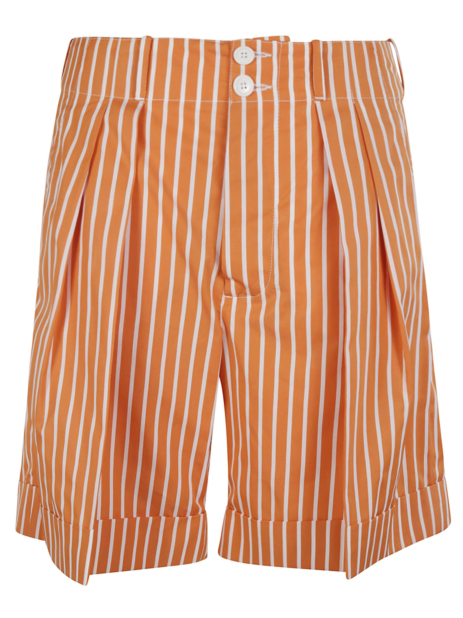 Plan C Cottons STRIPE PRINT SHORTS