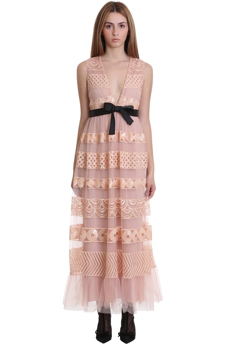 Buy RED Valentino Dress In Powder Silk online, shop RED Valentino with free shipping