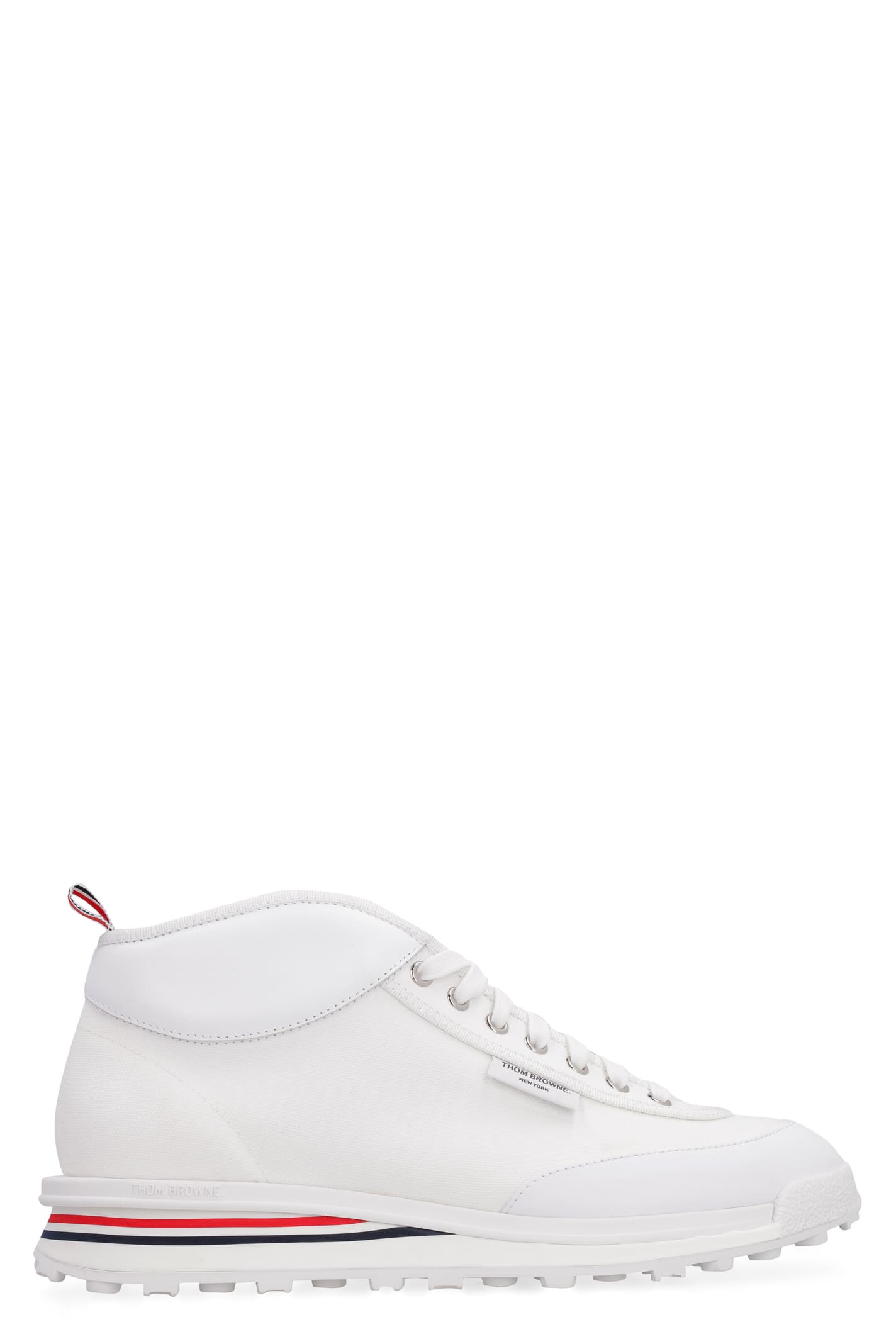 Thom Browne Shoes CANVAS HIGH-TOP SNEAKERS