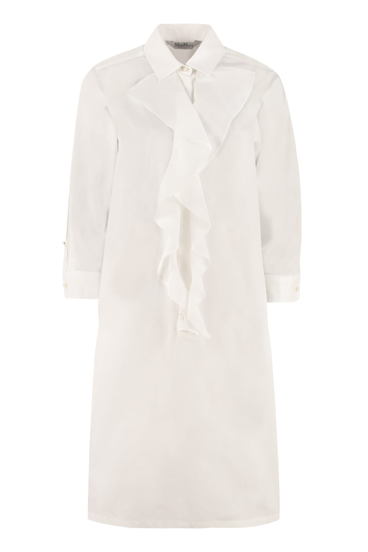 Buy Max Mara Cotton Shirt Dress online, shop Max Mara with free shipping