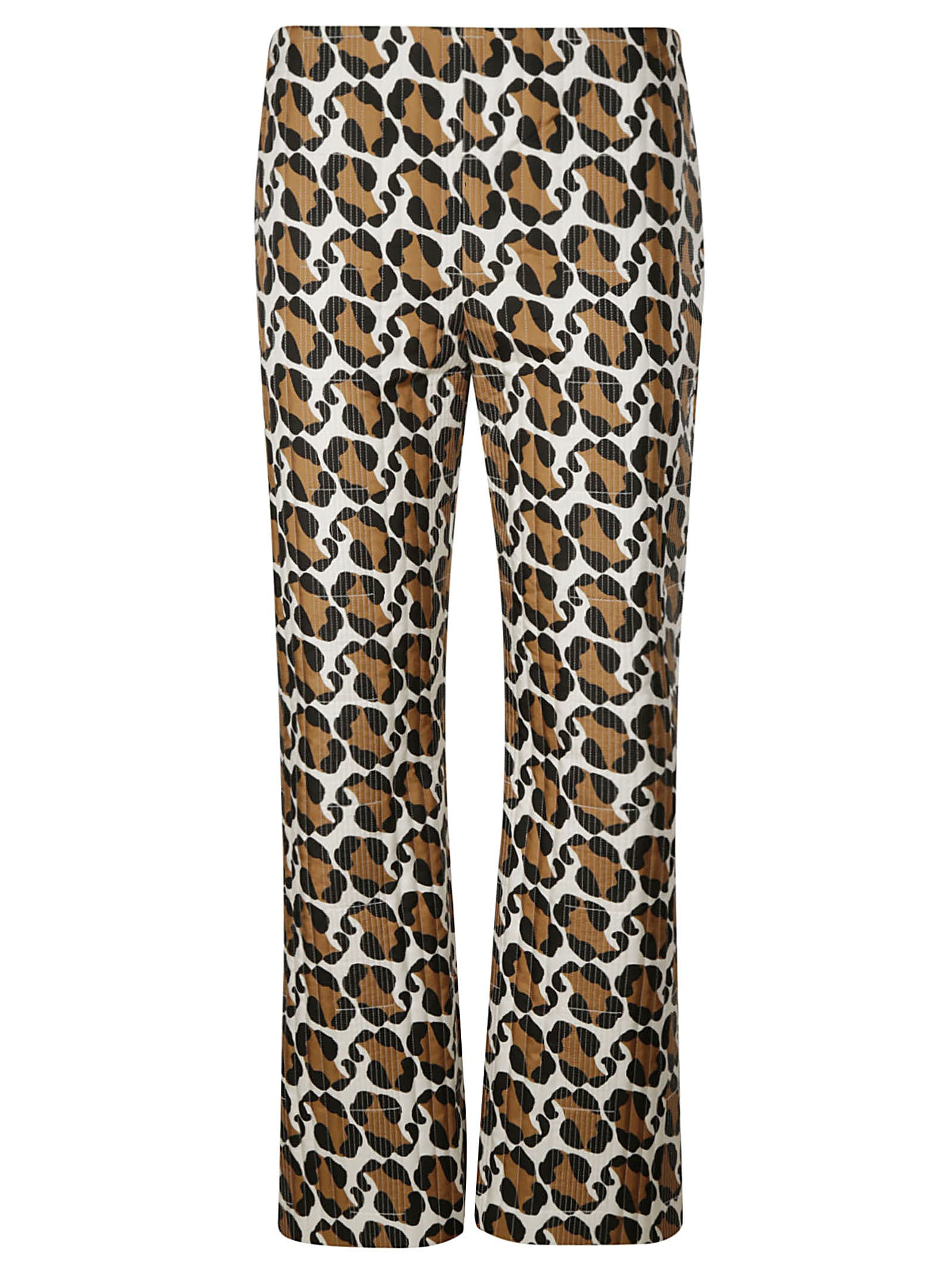 Fendi LEO SPLASH QUILTED TROUSERS