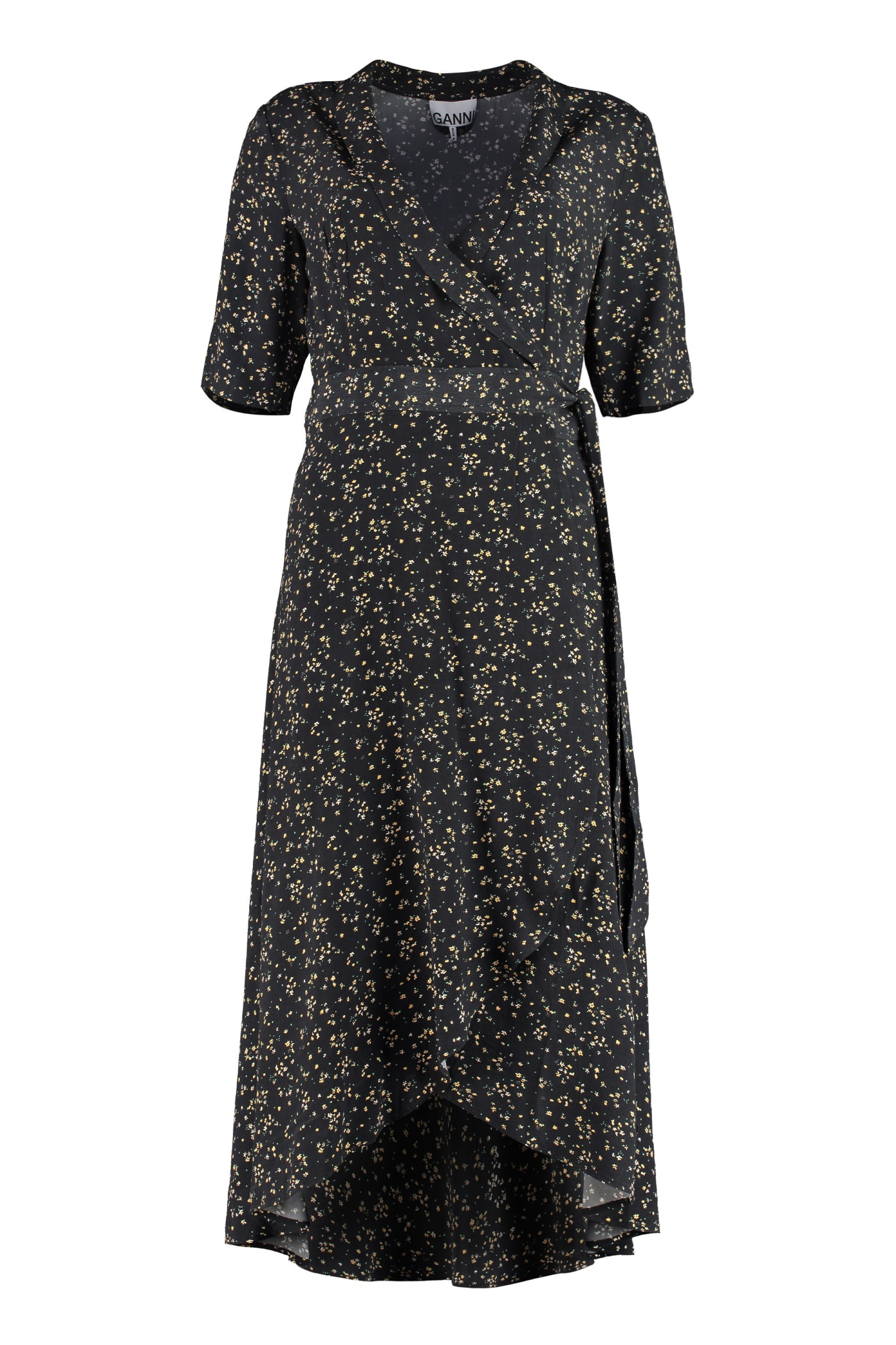 Buy Ganni Wrap-dress online, shop Ganni with free shipping