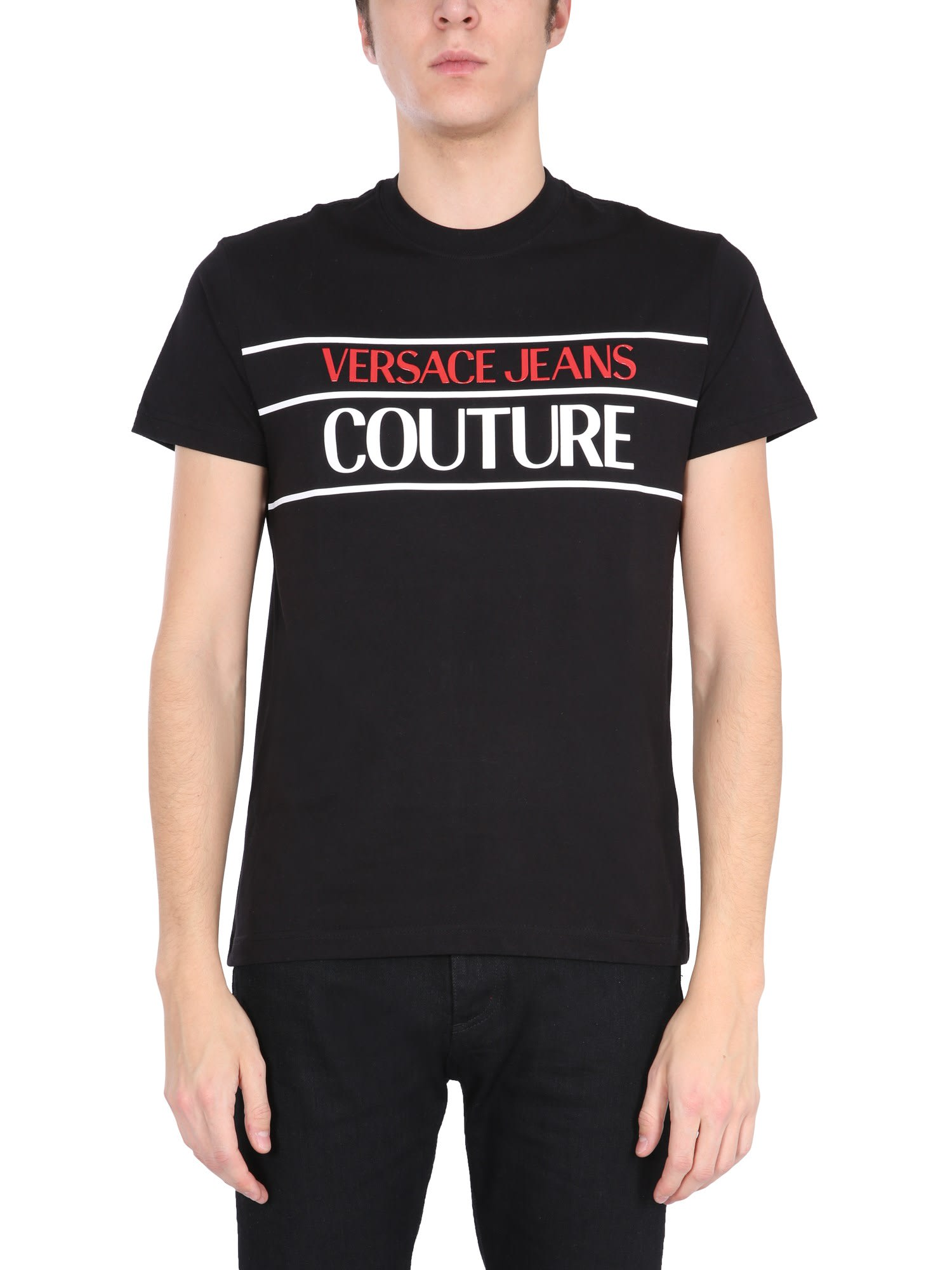 Versace Jeans Couture T-shirts T-SHIRT WITH LOGO