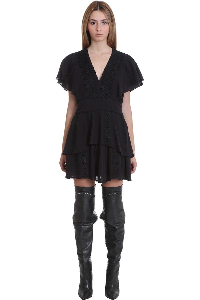 Buy IRO Parons Dress In Black Cotton online, shop IRO with free shipping