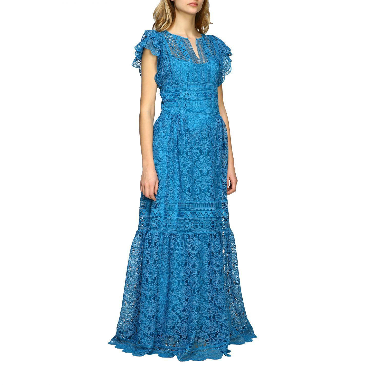 Buy Alberta Ferretti Dress Alberta Ferretti Maxi Dress In Embroidered Knit online, shop Alberta Ferretti with free shipping