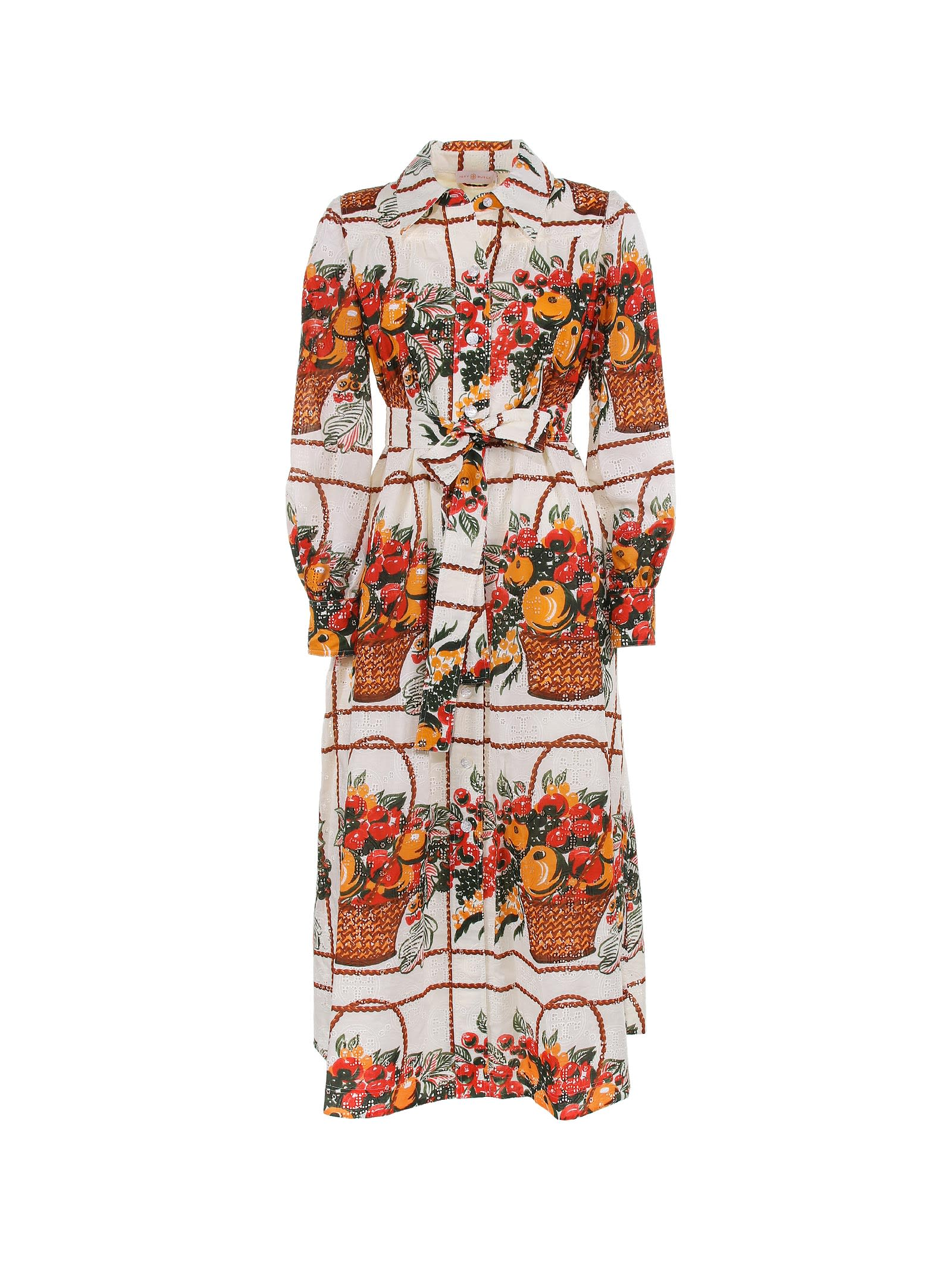Buy Tory Burch Dress In Cotton online, shop Tory Burch with free shipping