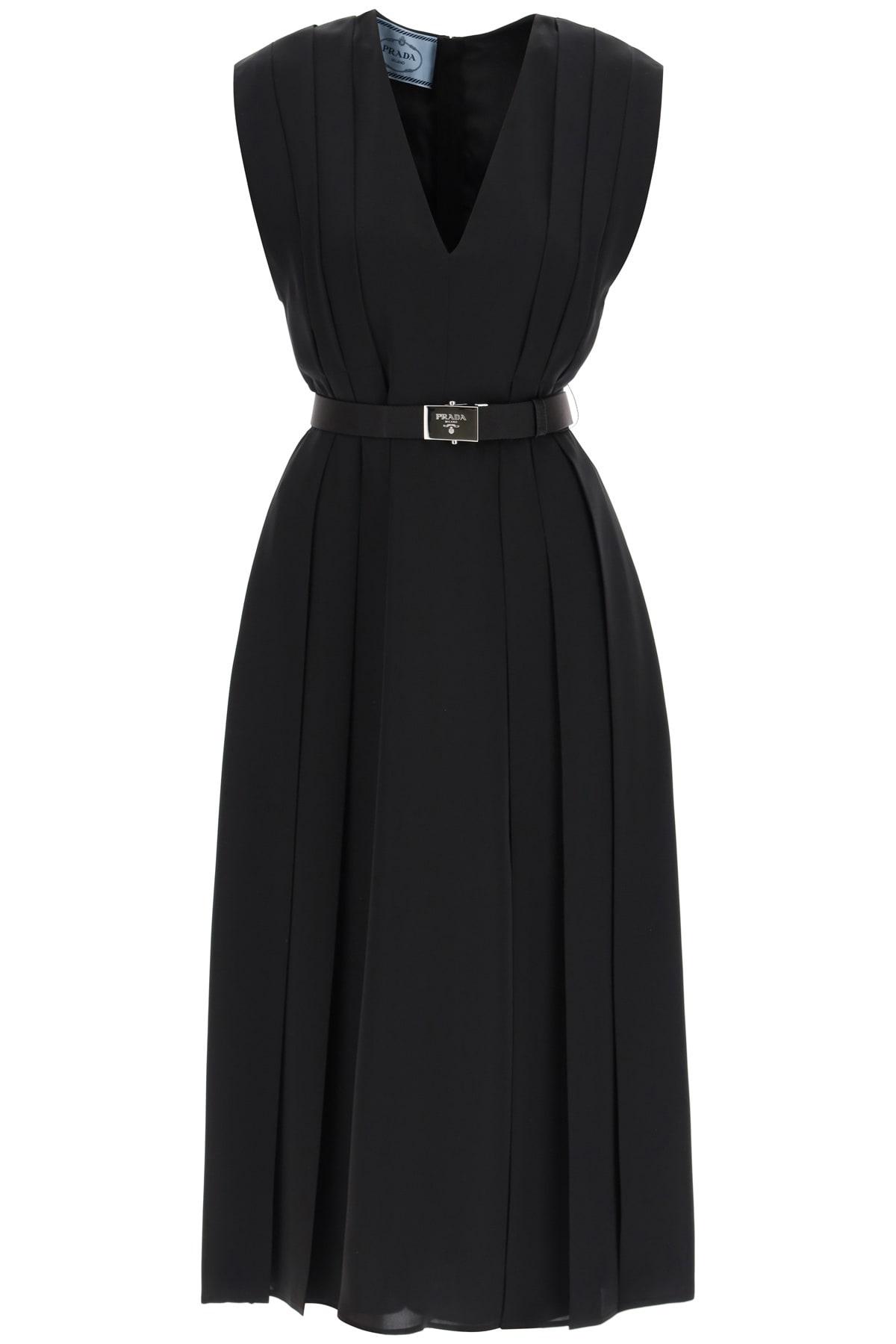 Prada Fluid Pong·Midi Dress