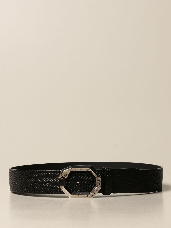 Just Cavalli Belt Just Cavalli Belt In Leather With Reptile Print