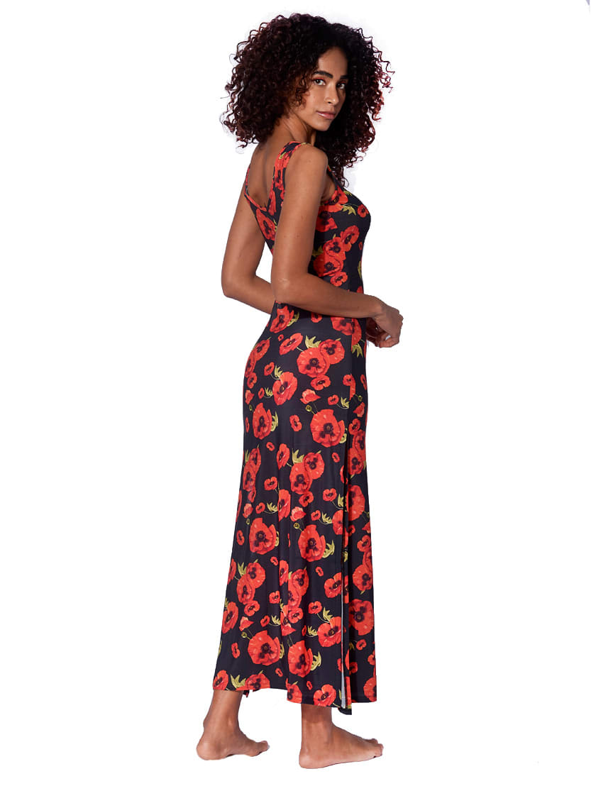 Buy Poppy Print Long Tank Dress online, shop MC2 Saint Barth with free shipping