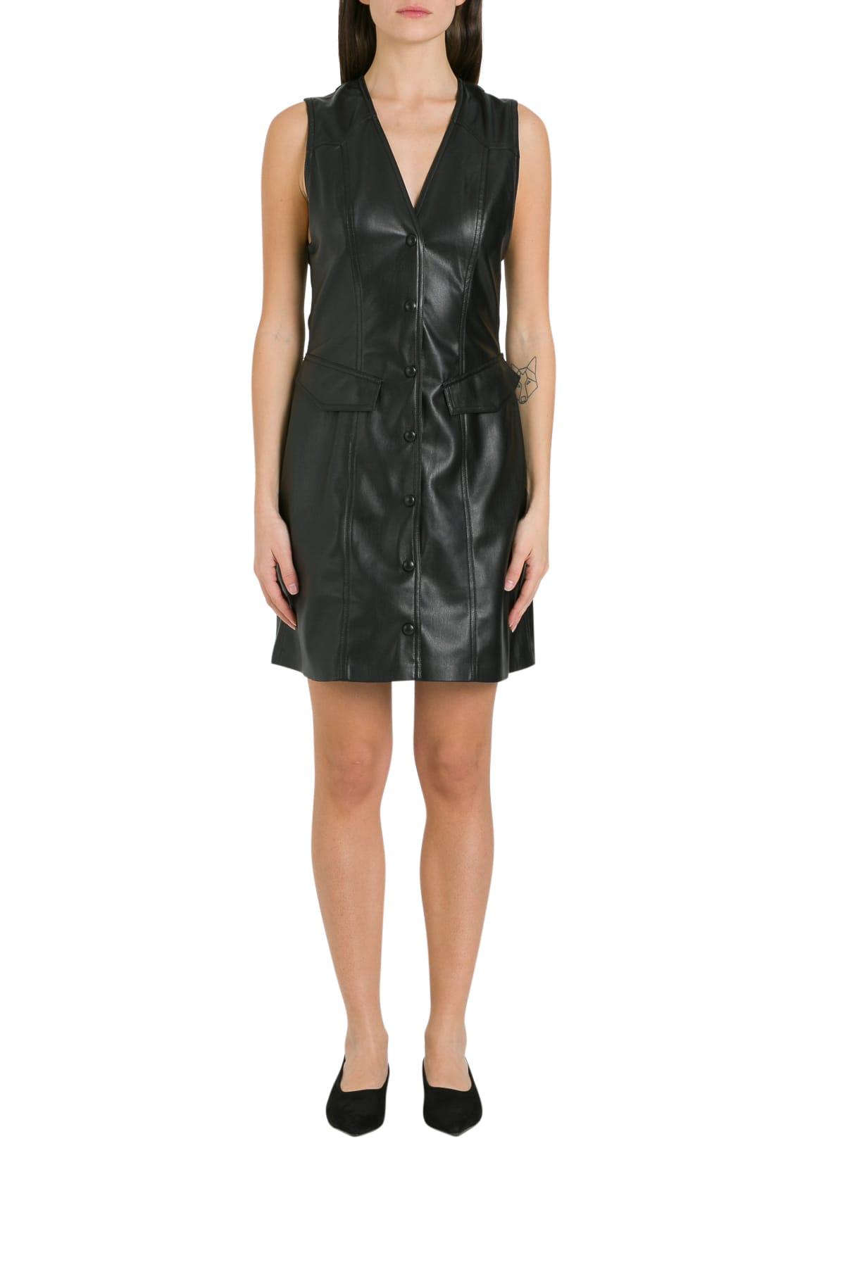 Buy Nanushka Menphi Vegan Leather Dress online, shop Nanushka with free shipping
