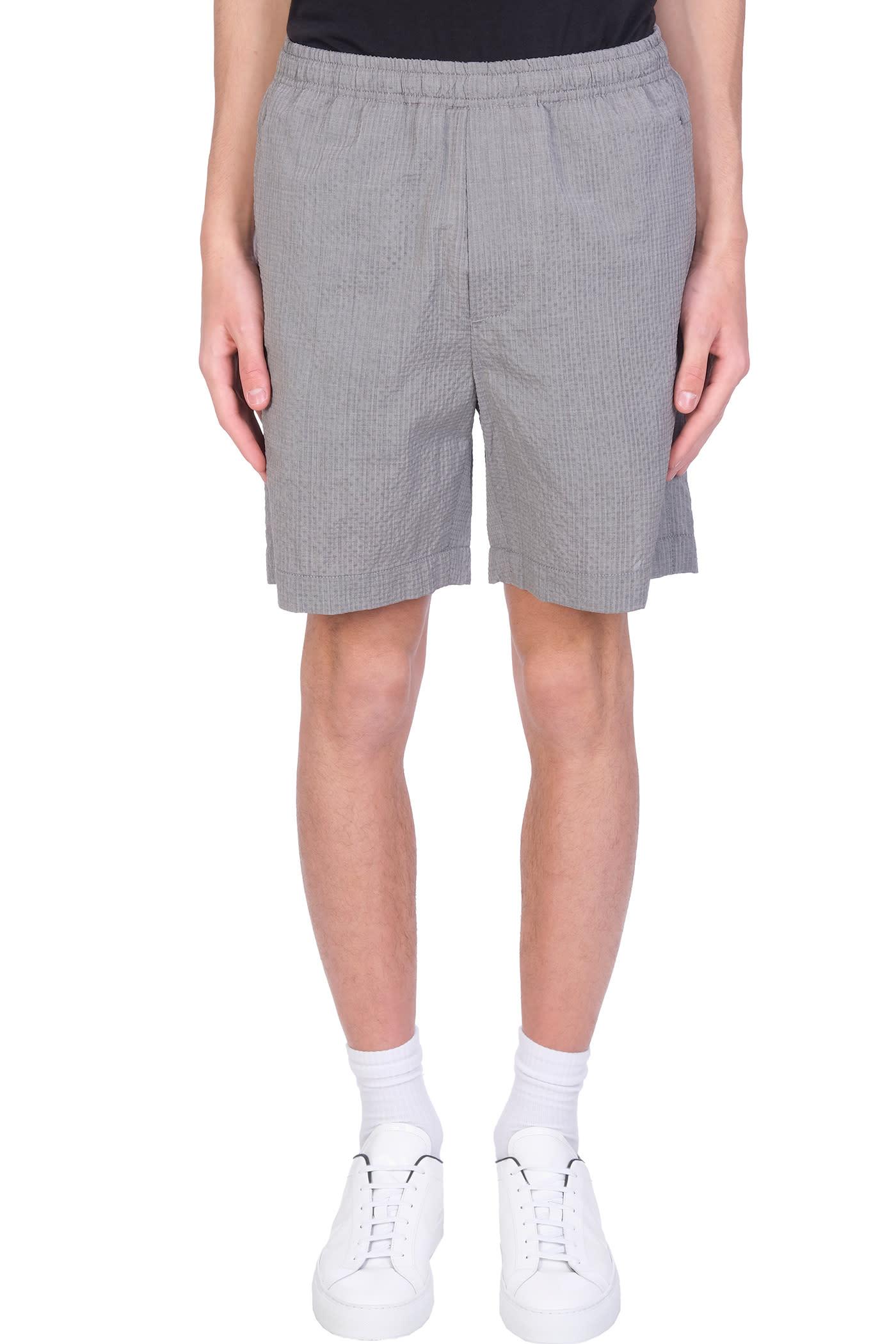 Shorts In Grey Wool