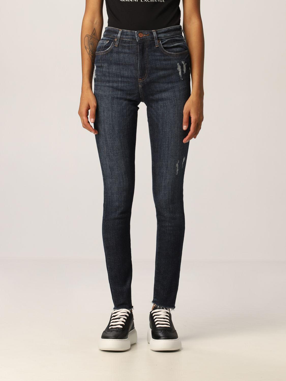 Armani Exchange Jeans High-waisted Stretch Used Denim Skinny Crop