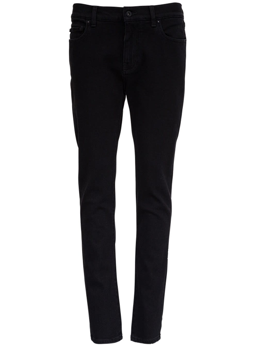 Off-White Black Jeans With Diagonals Detail