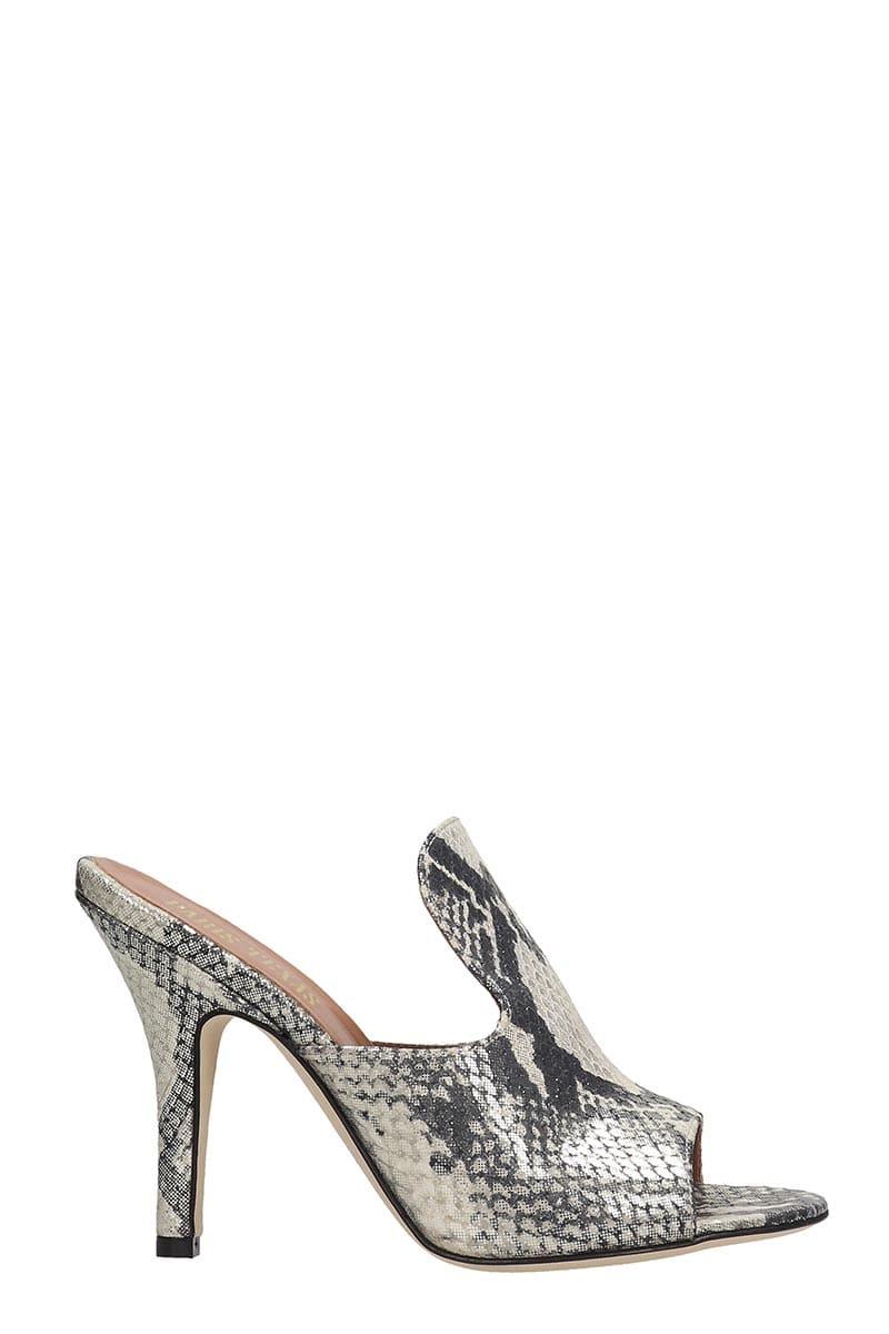 Paris Texas Sandals In Animalier Leather