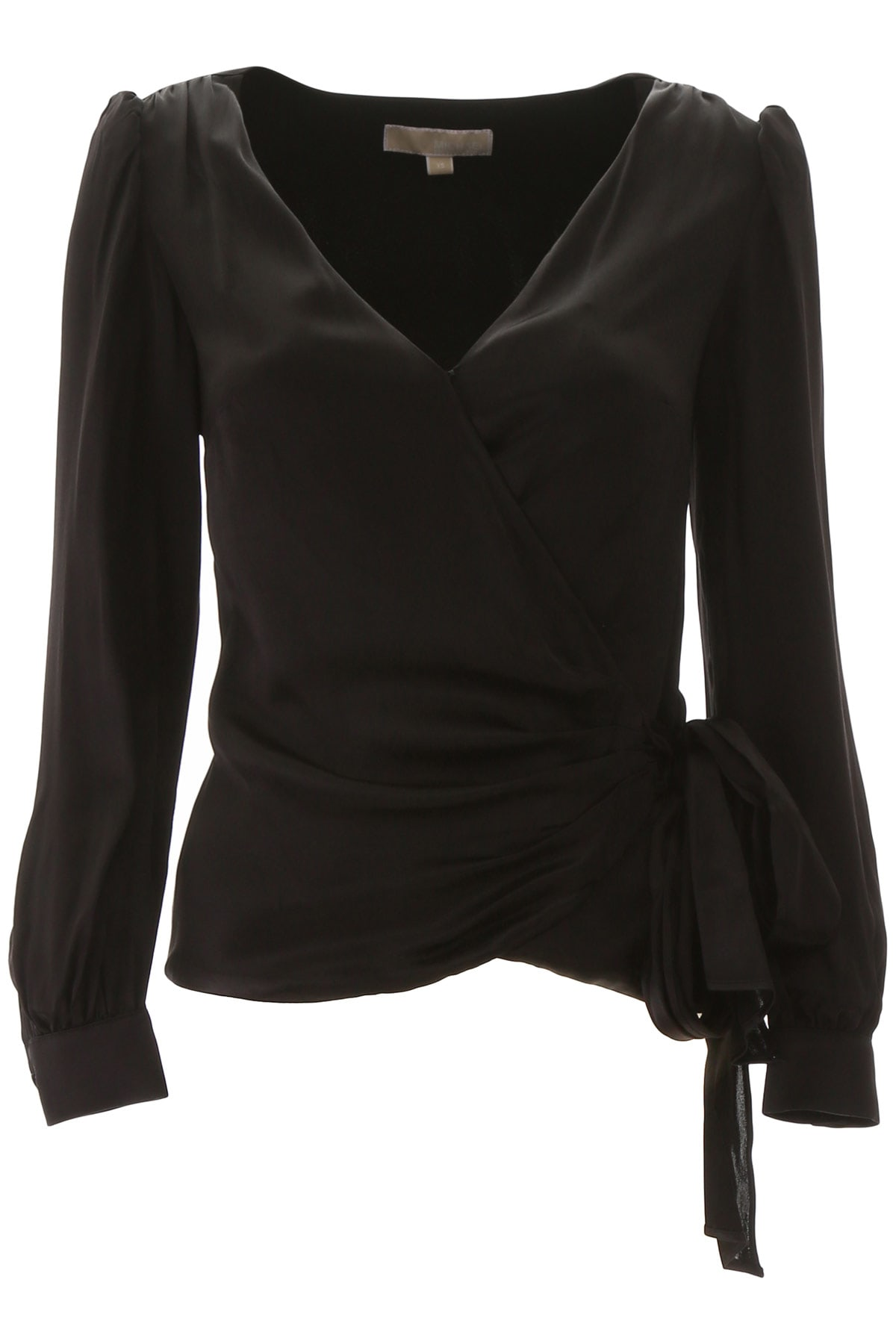 MICHAEL Michael Kors Satin Wrap Top