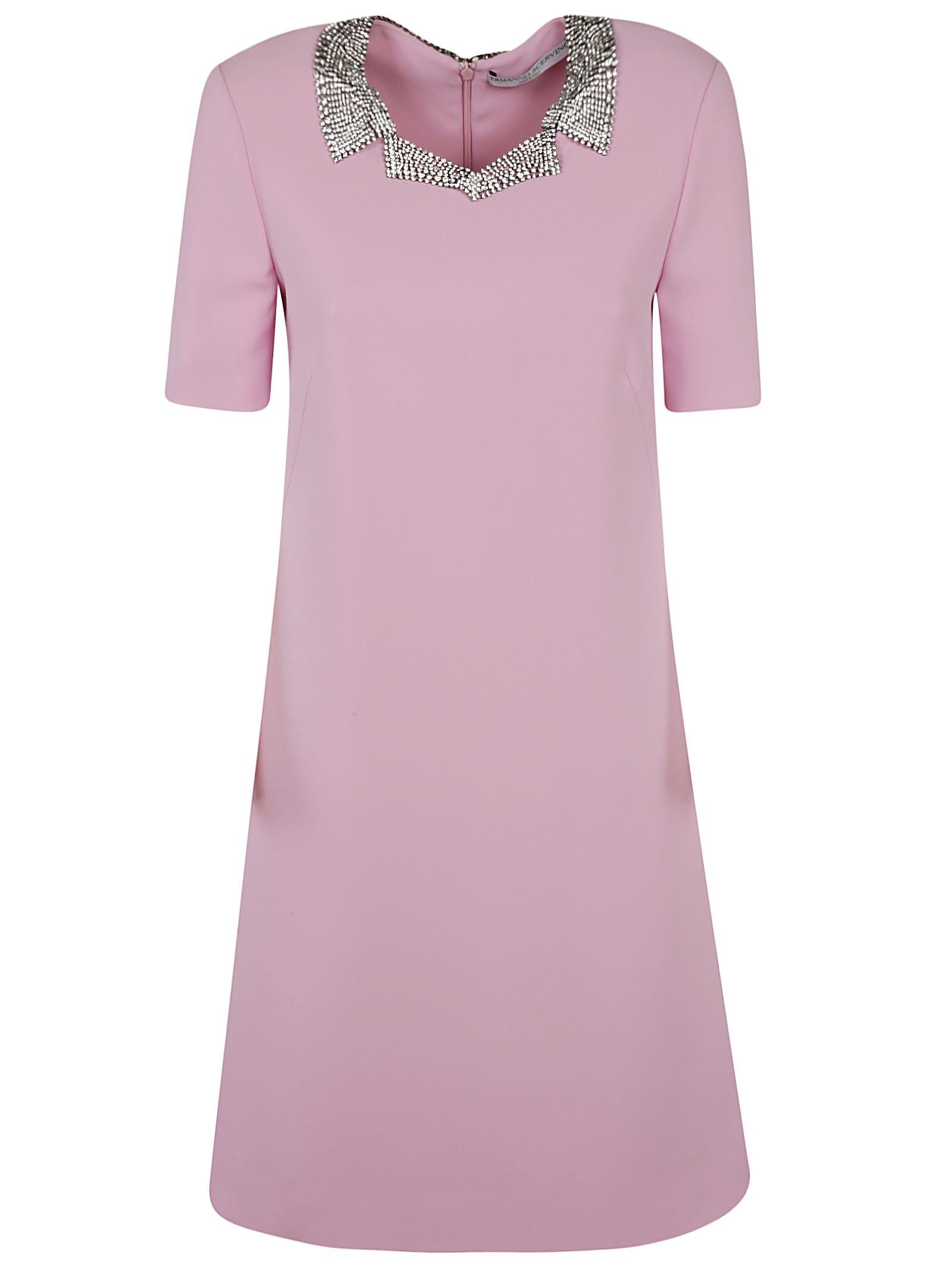Buy Ermanno Scervino Embellished Neck Dress online, shop Ermanno Scervino with free shipping