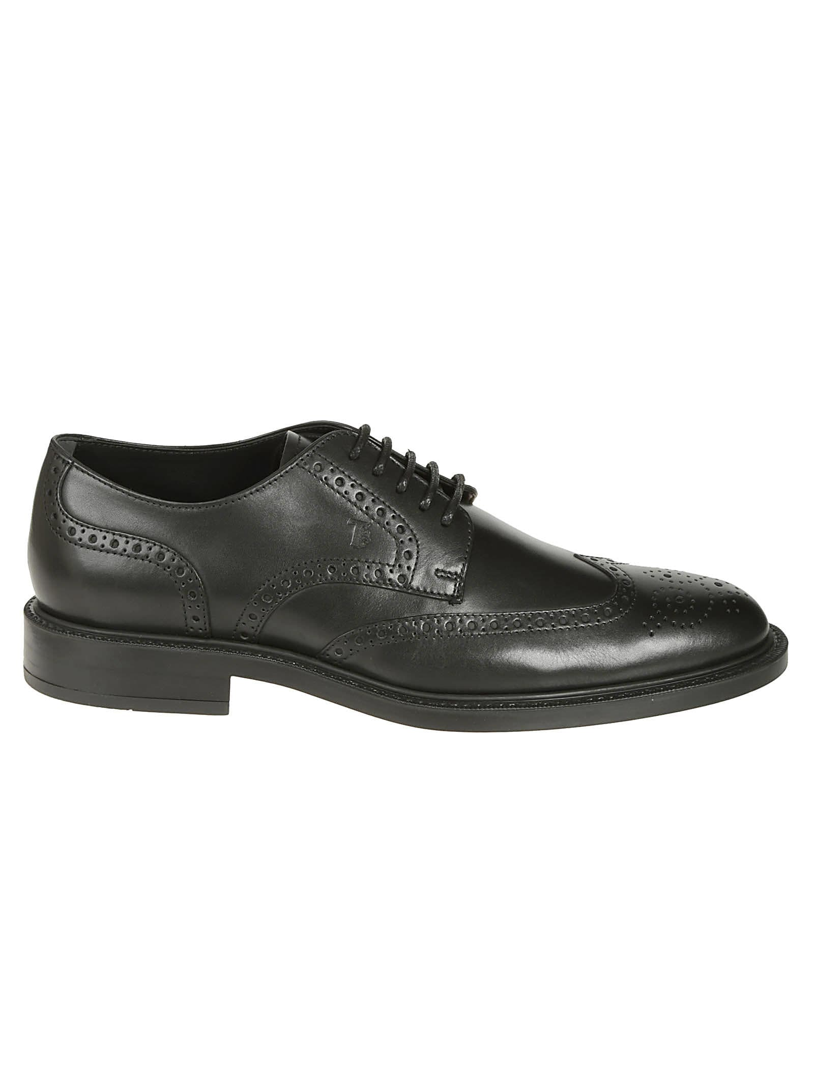 Tods Embossed Logo Oxford Shoes