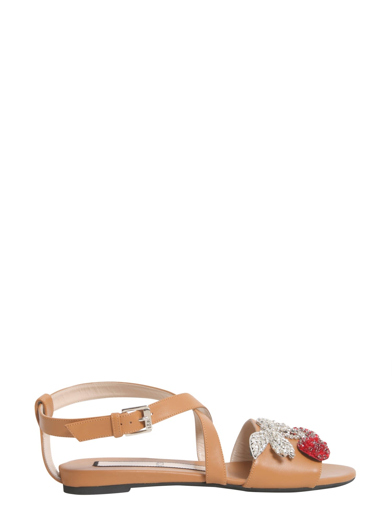 Buy N.21 Cherry Pin Sandals online, shop N.21 shoes with free shipping