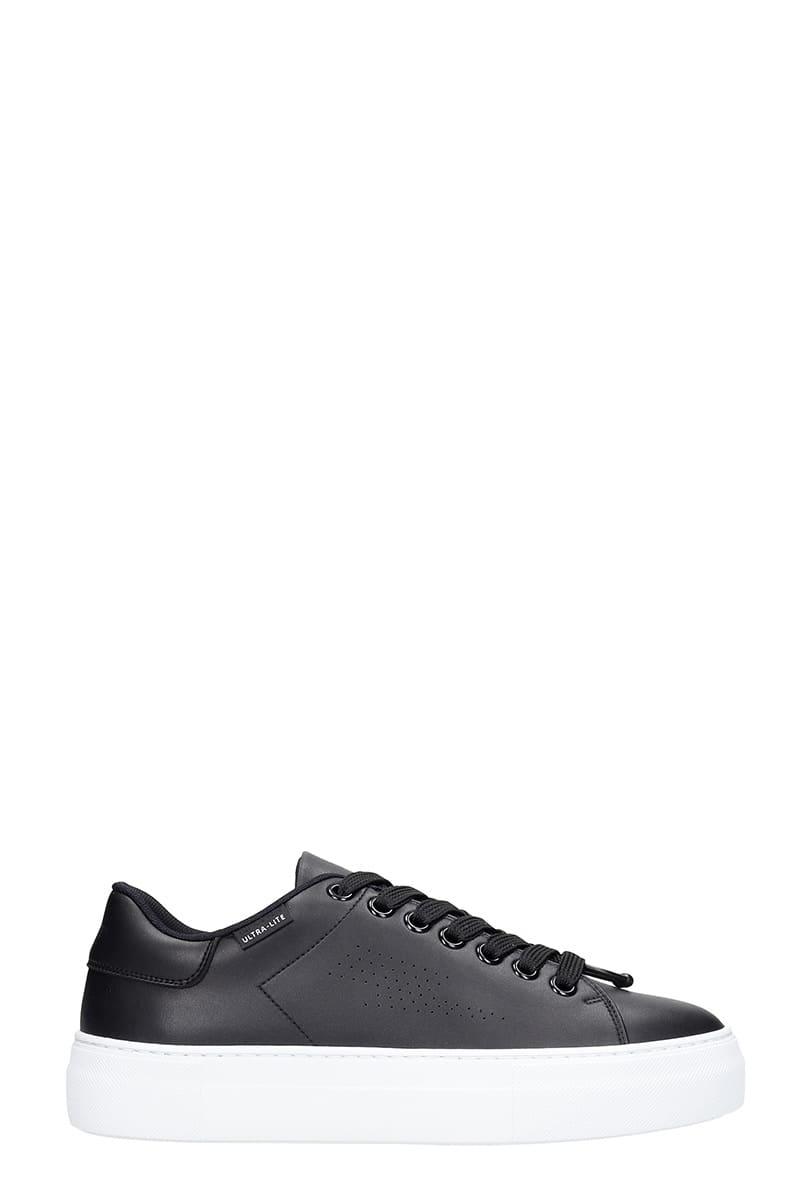 Neil Barrett Ultra Lite Tenn Sneakers In Black Leather