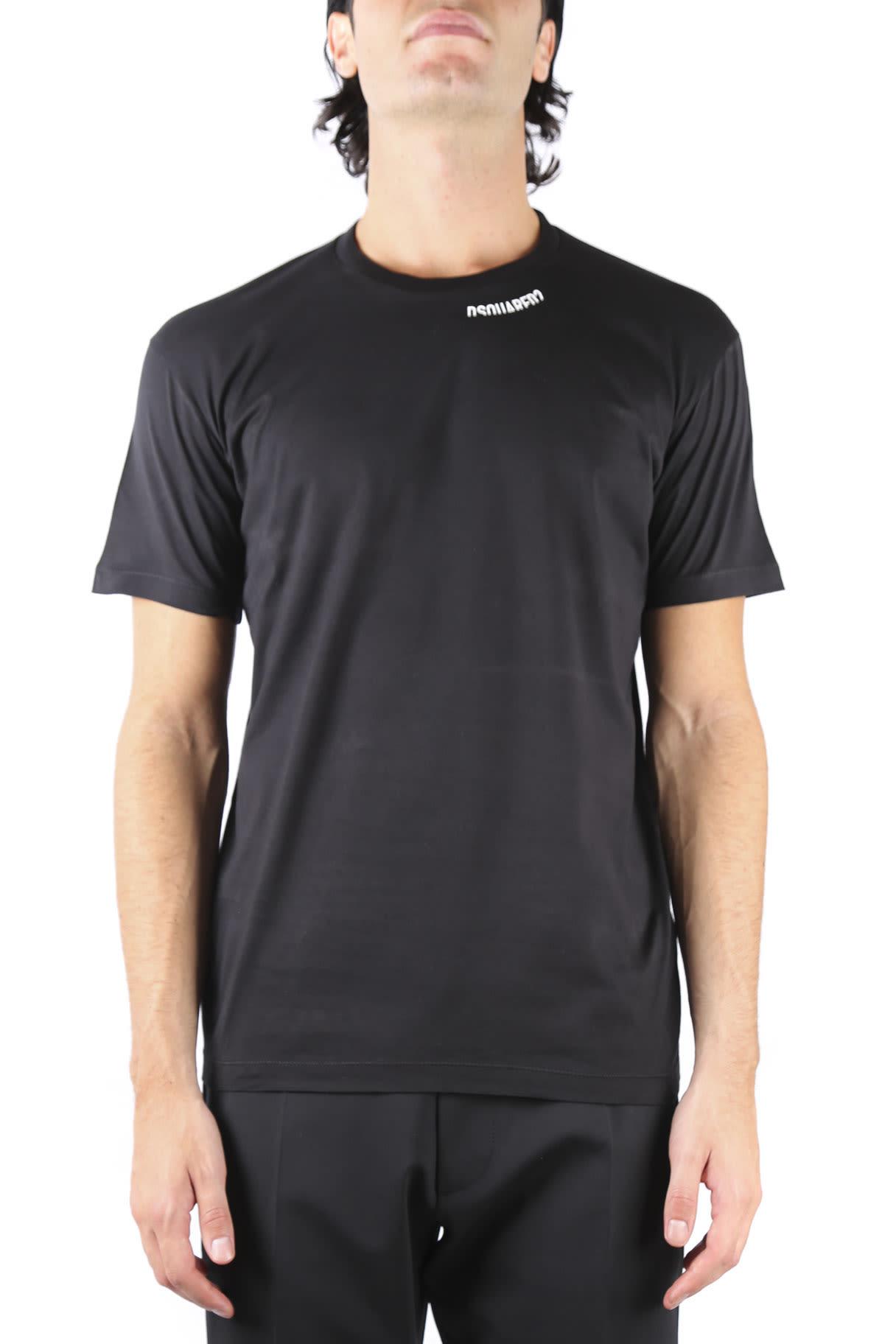 Dsquared2 Black Dsq2 Cotton T-shirt