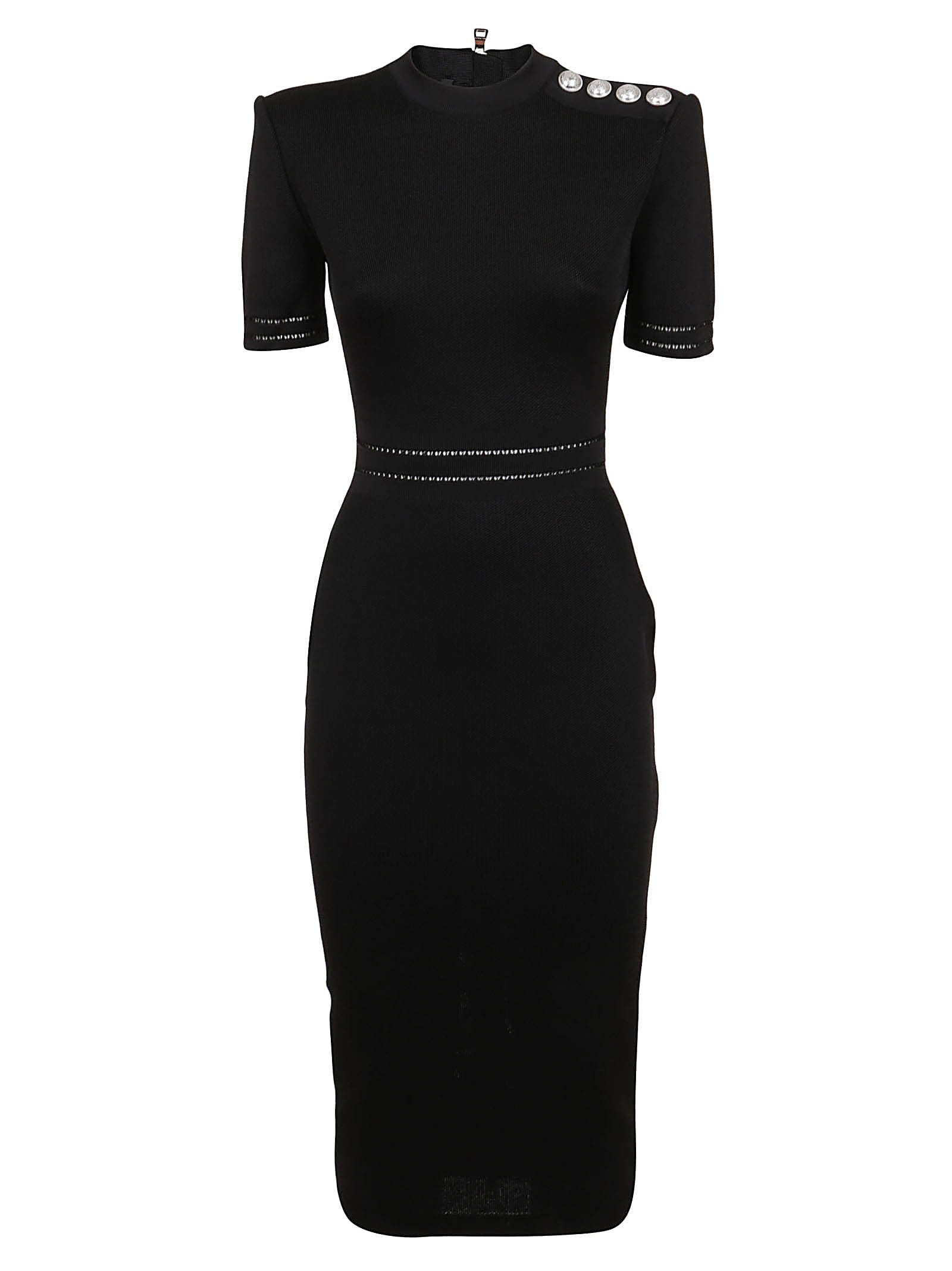 Buy Balmain Mid-lenght Dress online, shop Balmain with free shipping