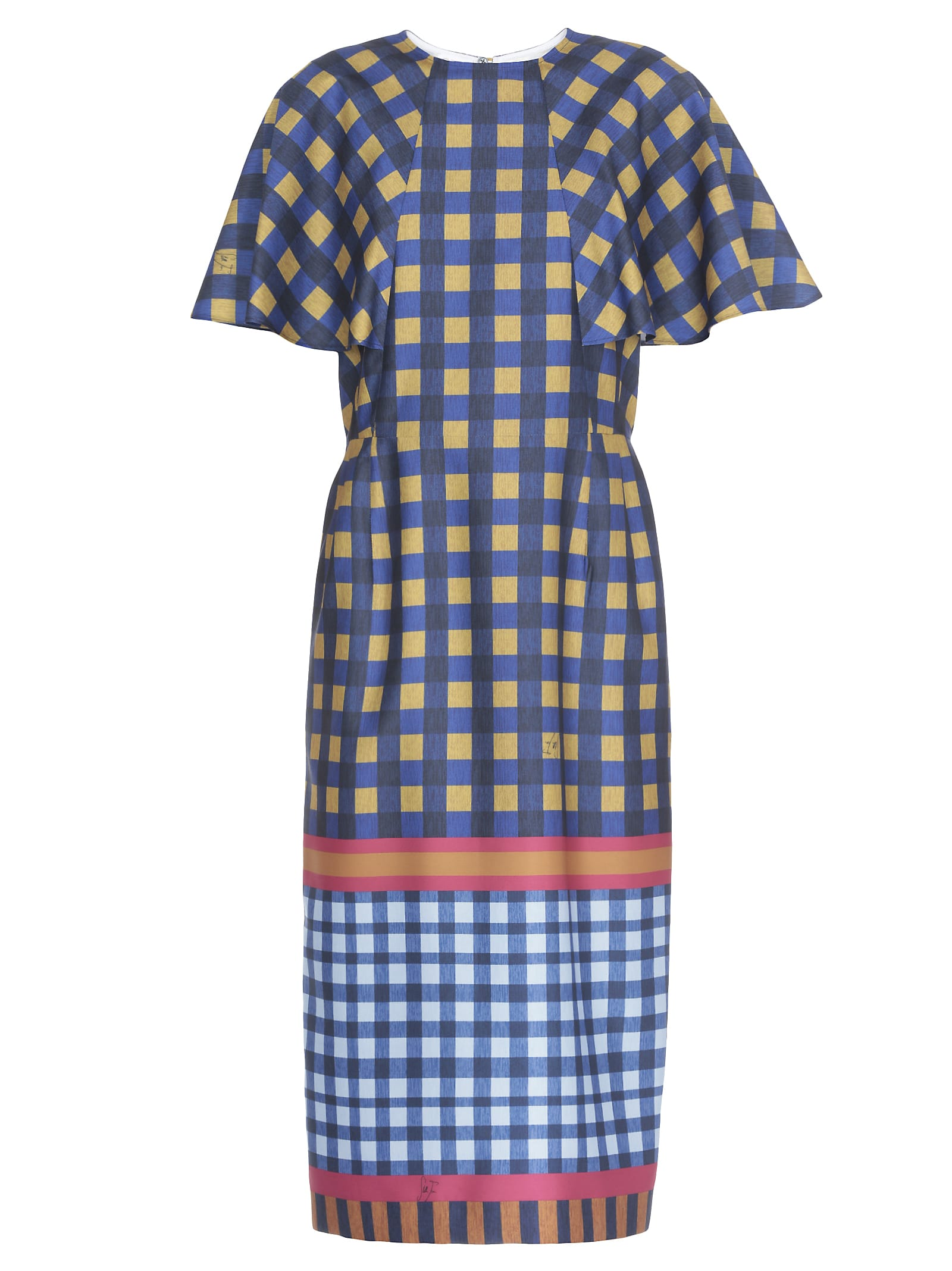 Stella Jean Check Patterned Dress