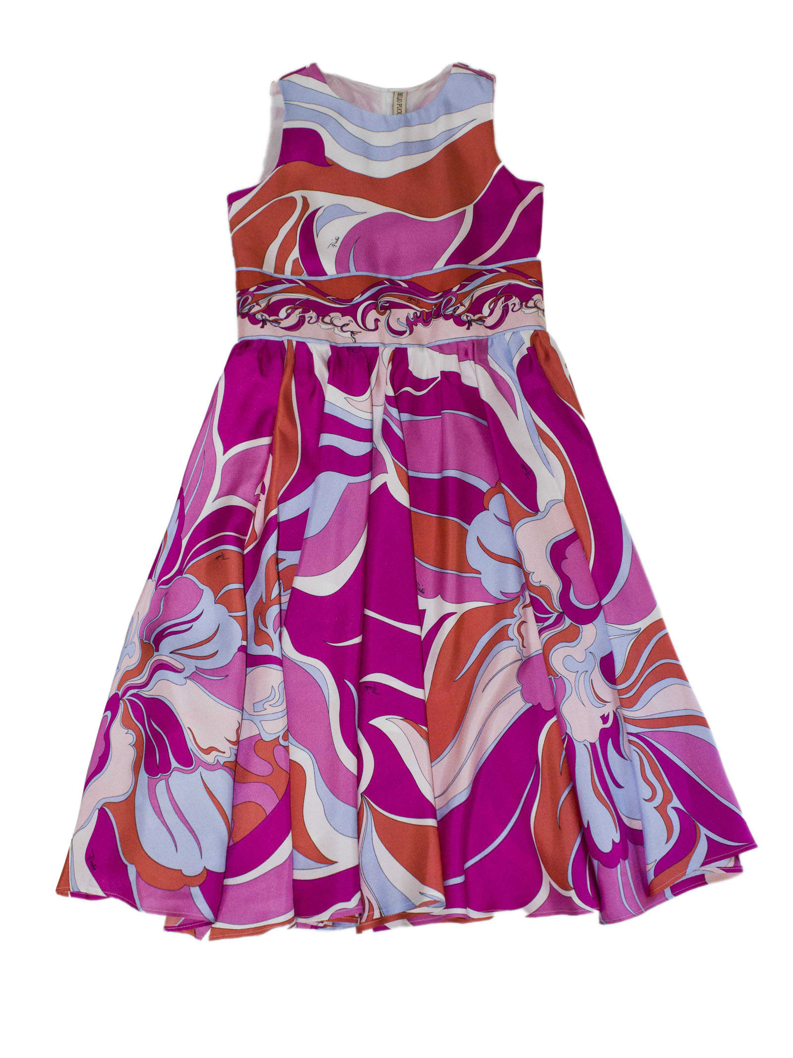 Emilio Pucci Multicolor Silk Dress