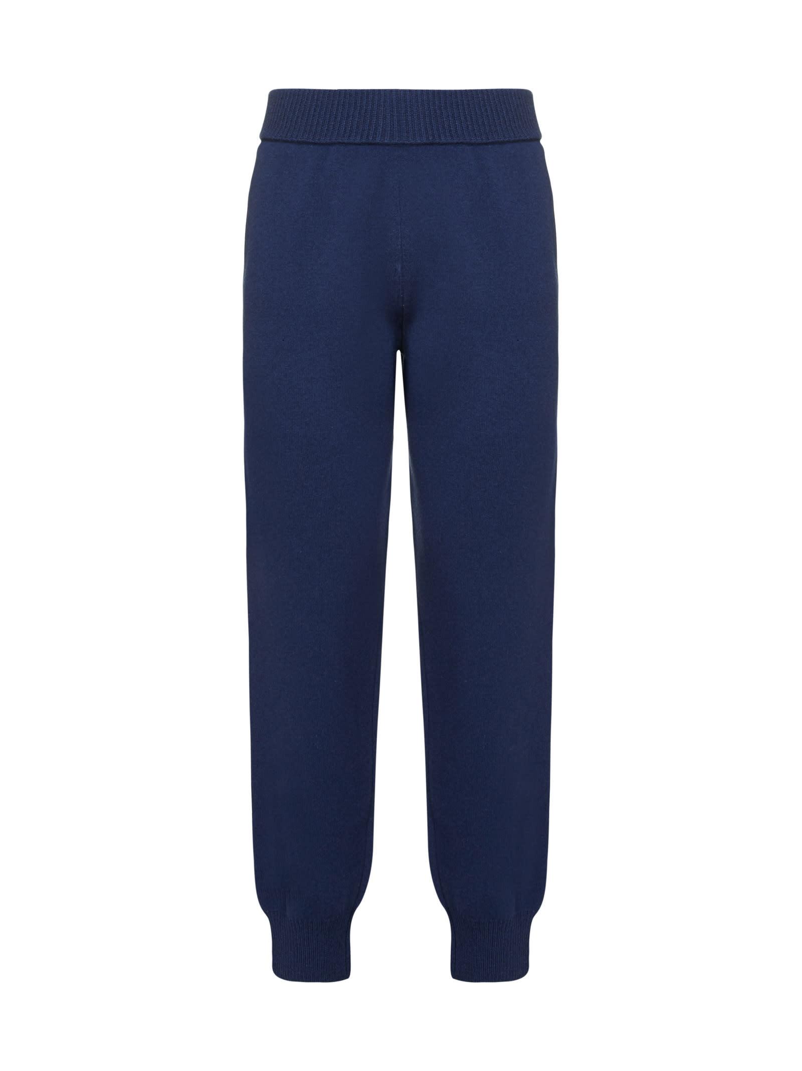 Lanvin Pants In Medium Green Dark Blue