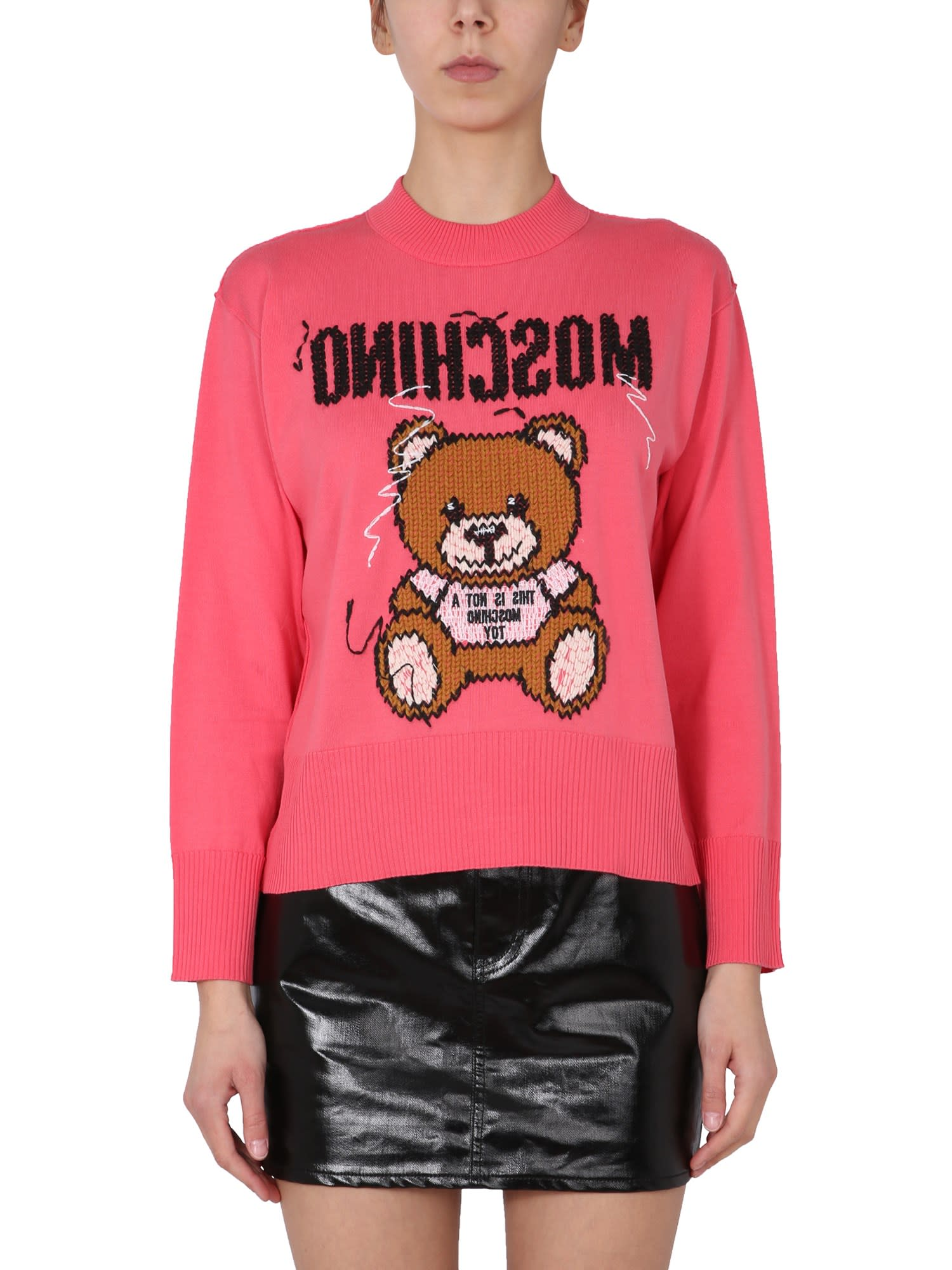 Moschino TEDDY BEAR INSIDE OUT SWEATER