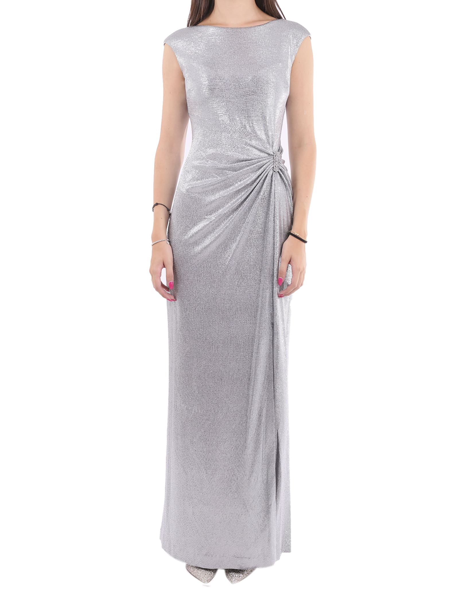 Lauren Ralph Lauren Silver Ilianne Dress