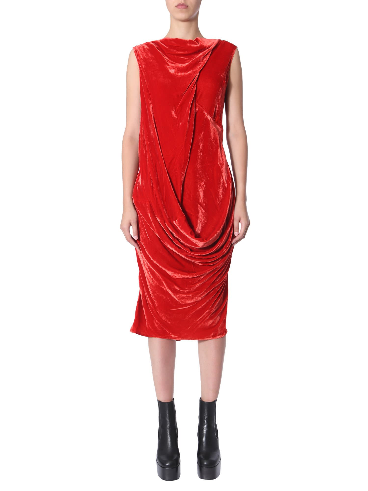 Buy Rick Owens Draped Dress online, shop Rick Owens with free shipping