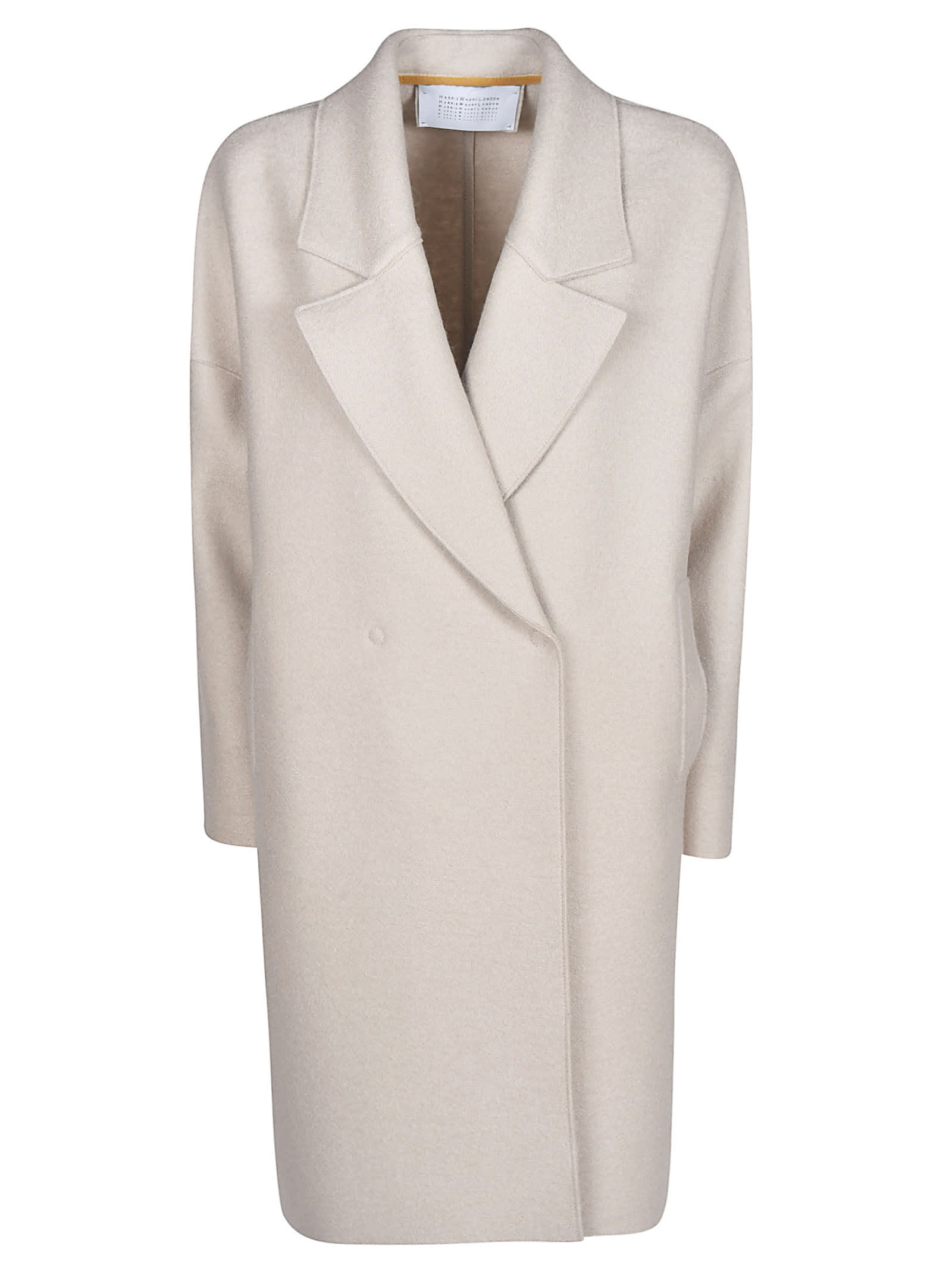 Harris Wharf London Over Fitted Press Wool Coat