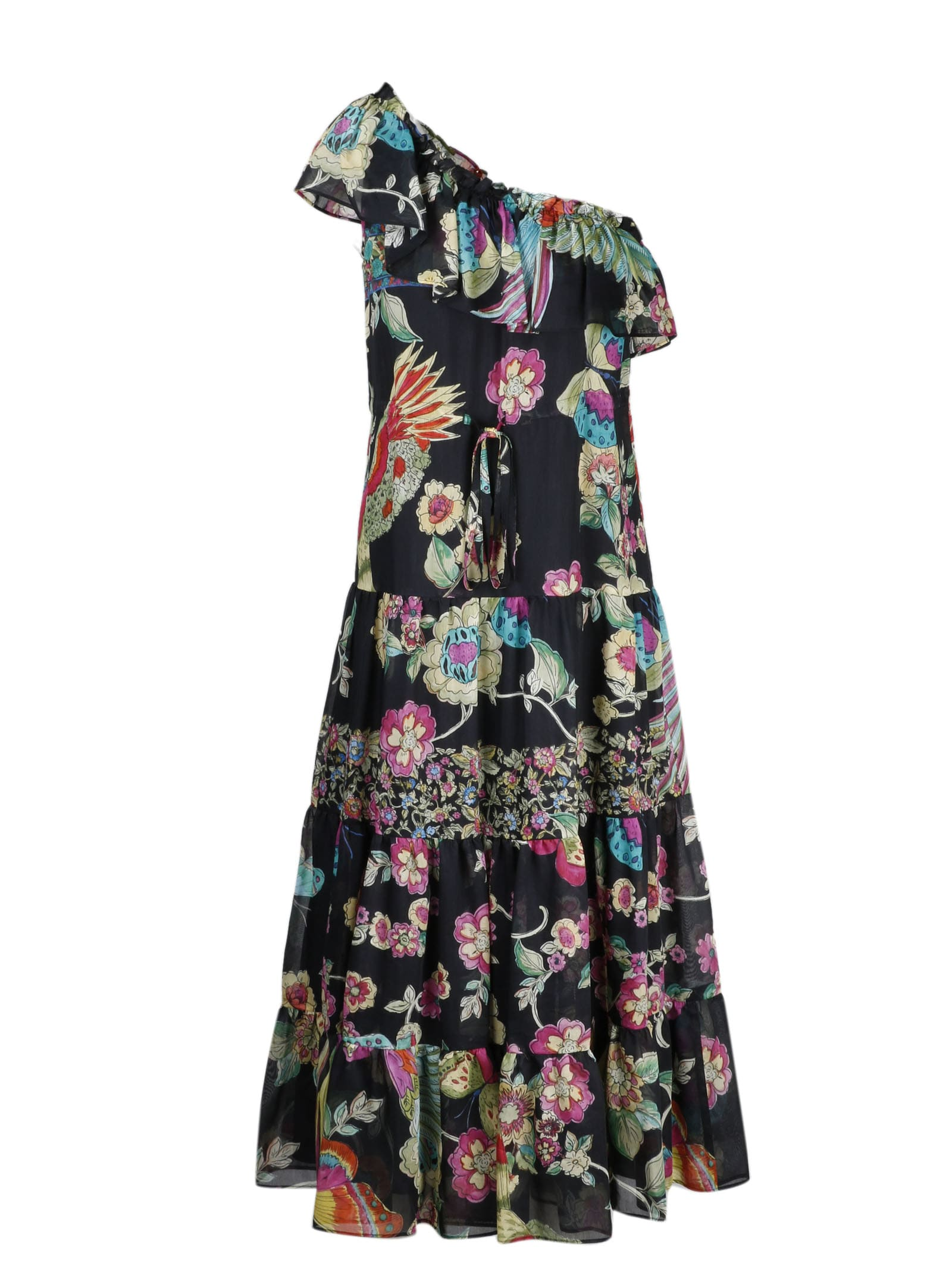 Buy RED Valentino Bird Of Paradise Dress With Flounds online, shop RED Valentino with free shipping