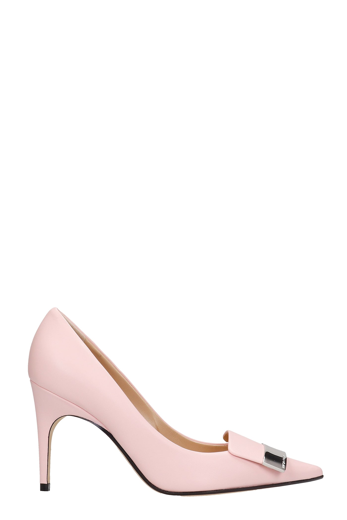 Sergio Rossi PUMPS IN ROSE-PINK LEATHER