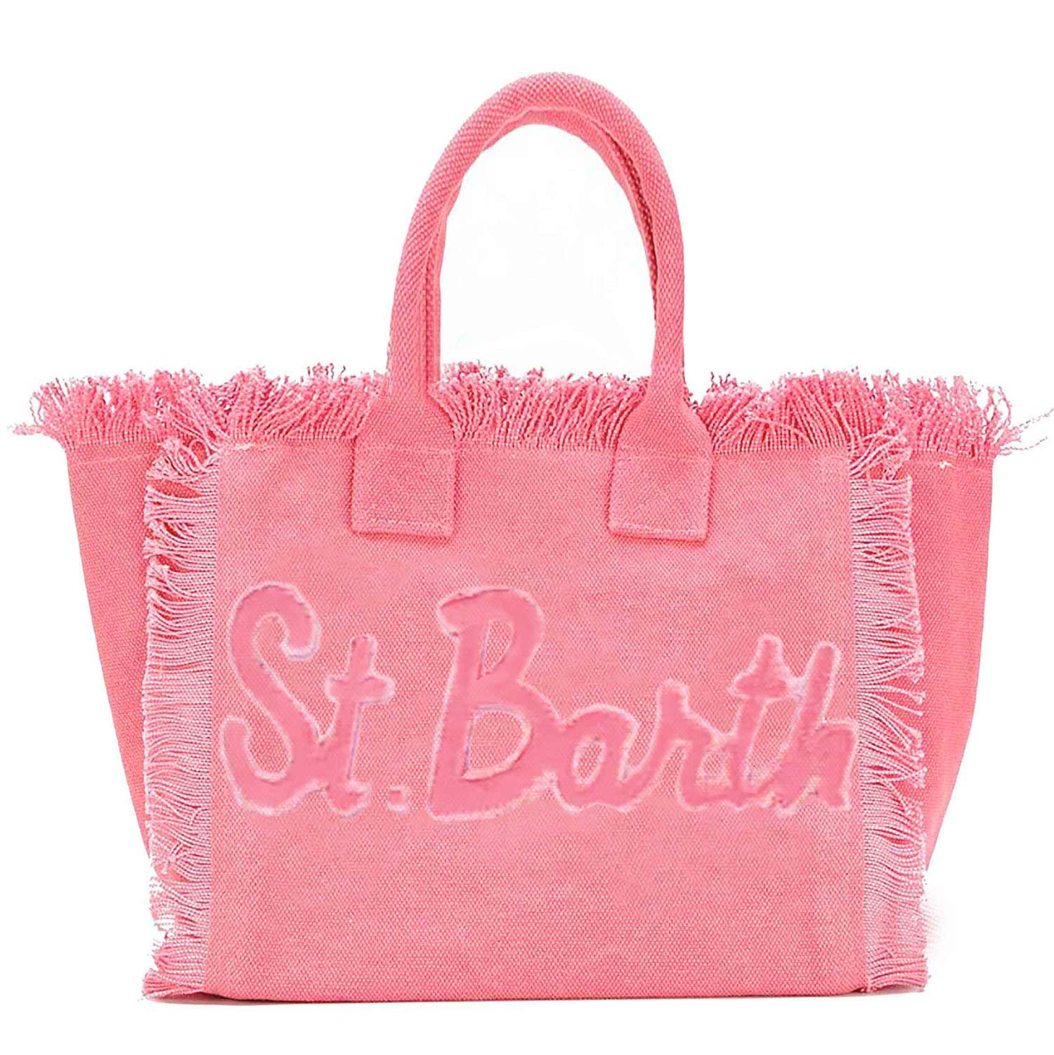Pink Canvas Bag Saint Barth Patch