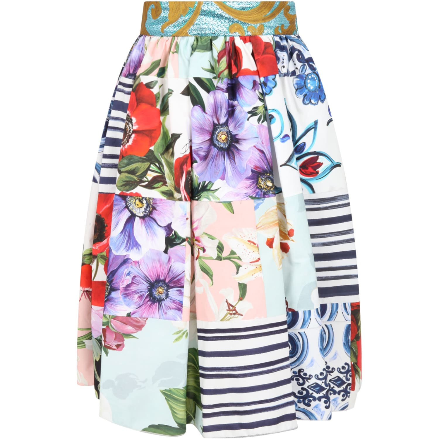 Dolce & Gabbana MULTICOLOR SKIRT FOR GIRL
